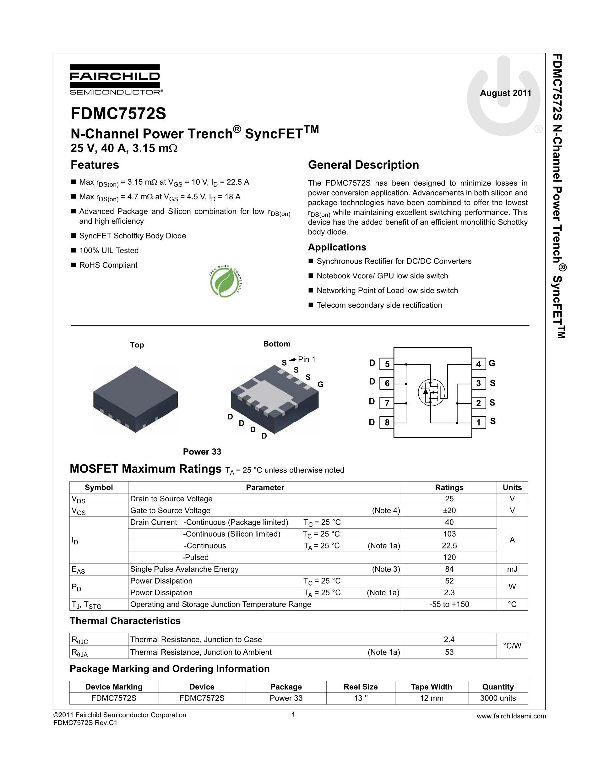 FDMC2514SDC's pdf picture 2