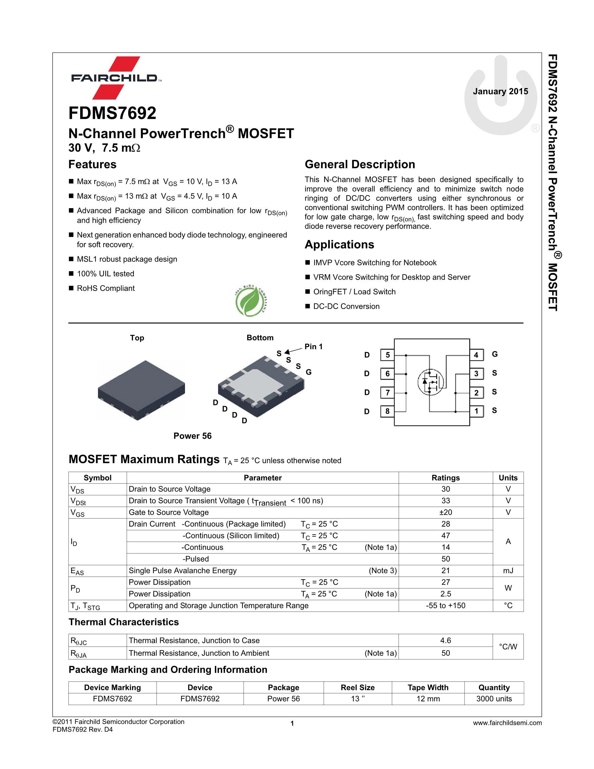 FDMS7578's pdf picture 2