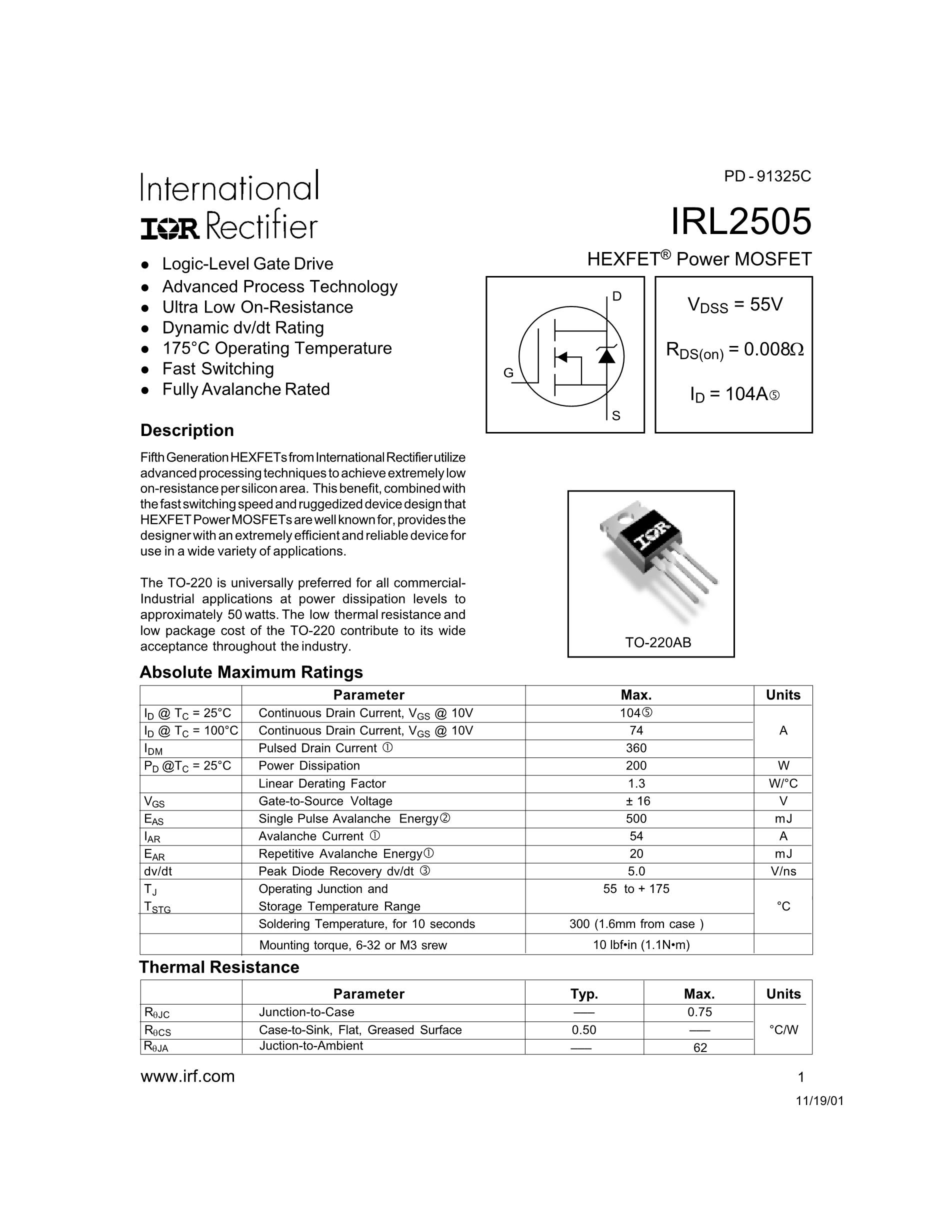 IRL2203S's pdf picture 1