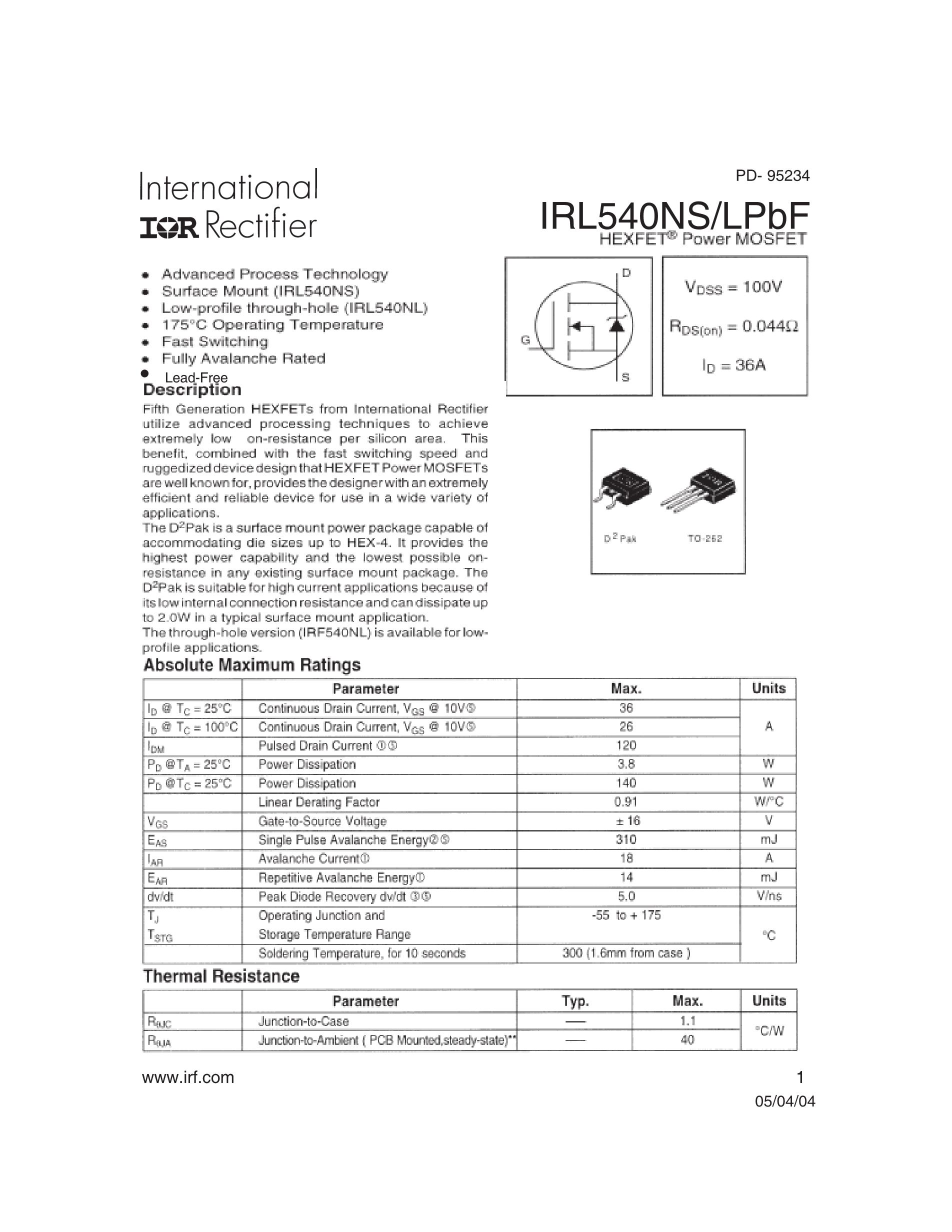 IRL540's pdf picture 1