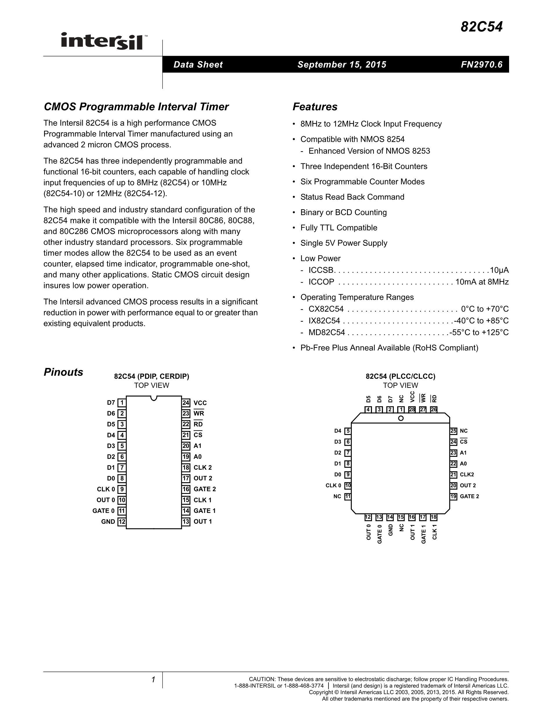 CS82C55AZ96S2705's pdf picture 1
