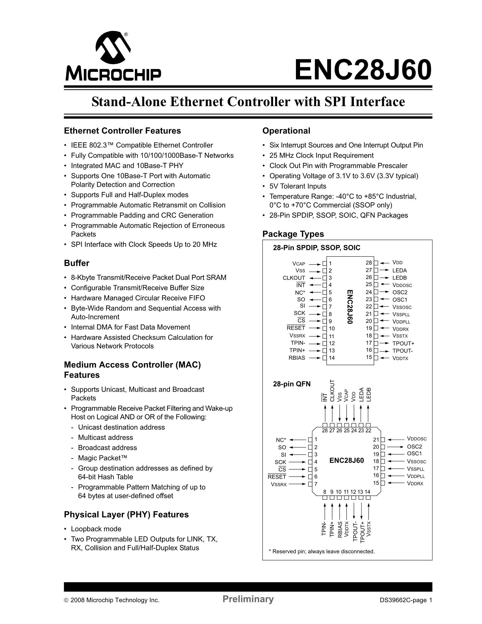 ENC28J60-I/SO's pdf picture 3