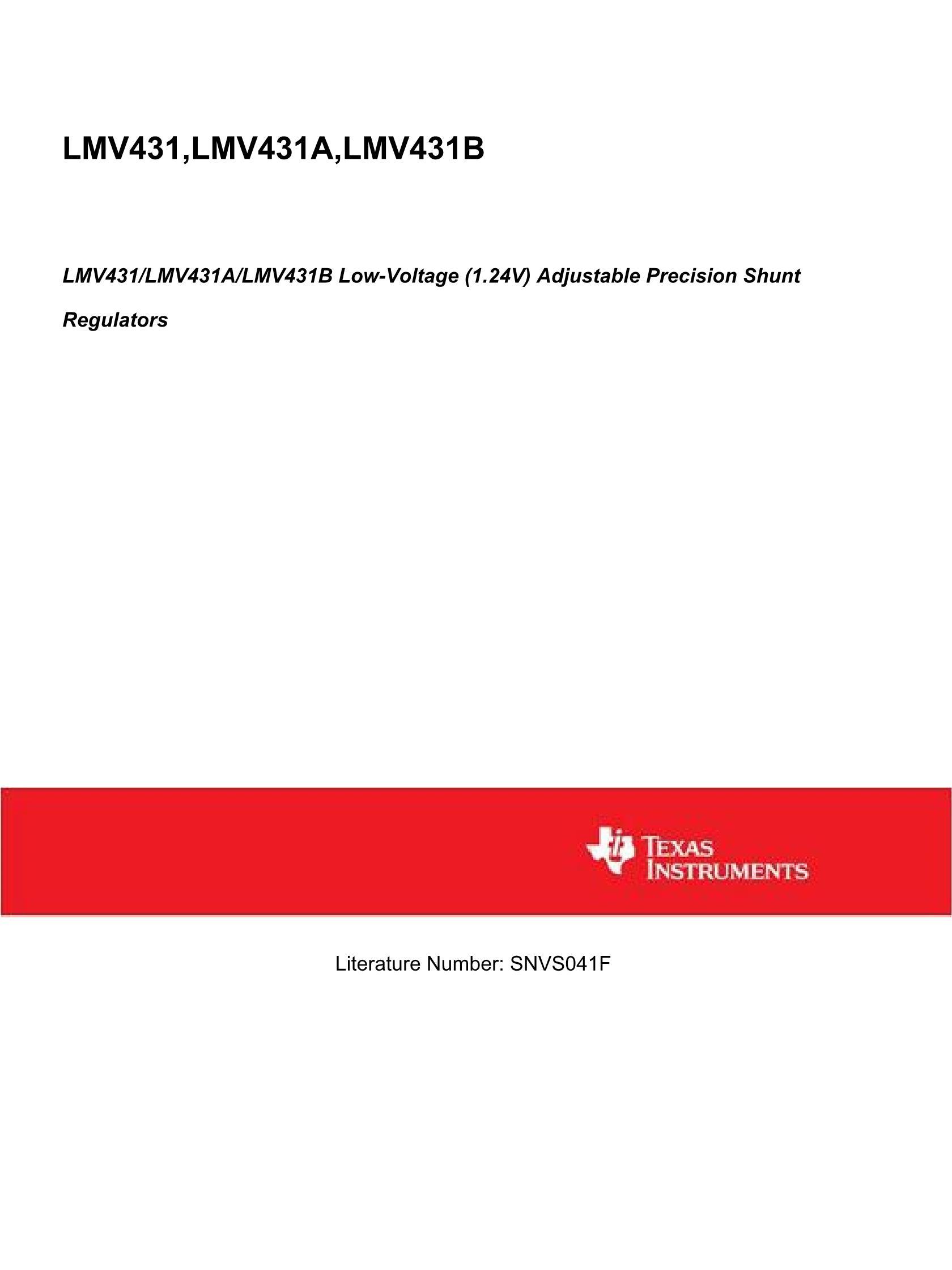 LMV431AIMF NOPB's pdf picture 1