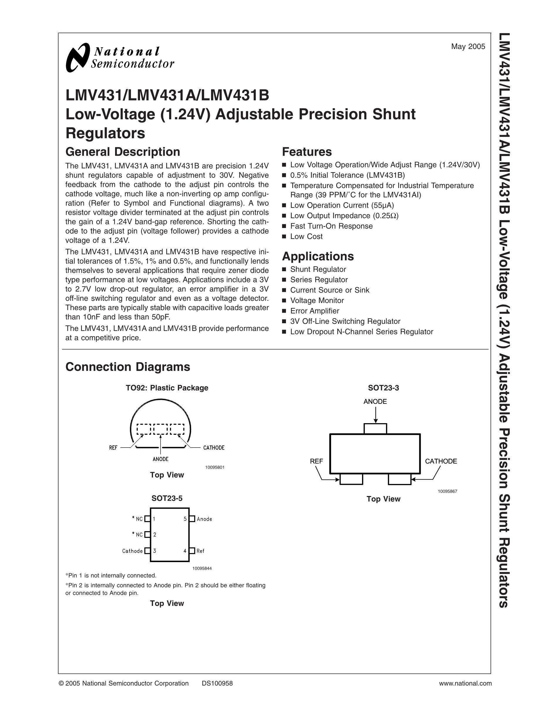 LMV431AIMF NOPB's pdf picture 2