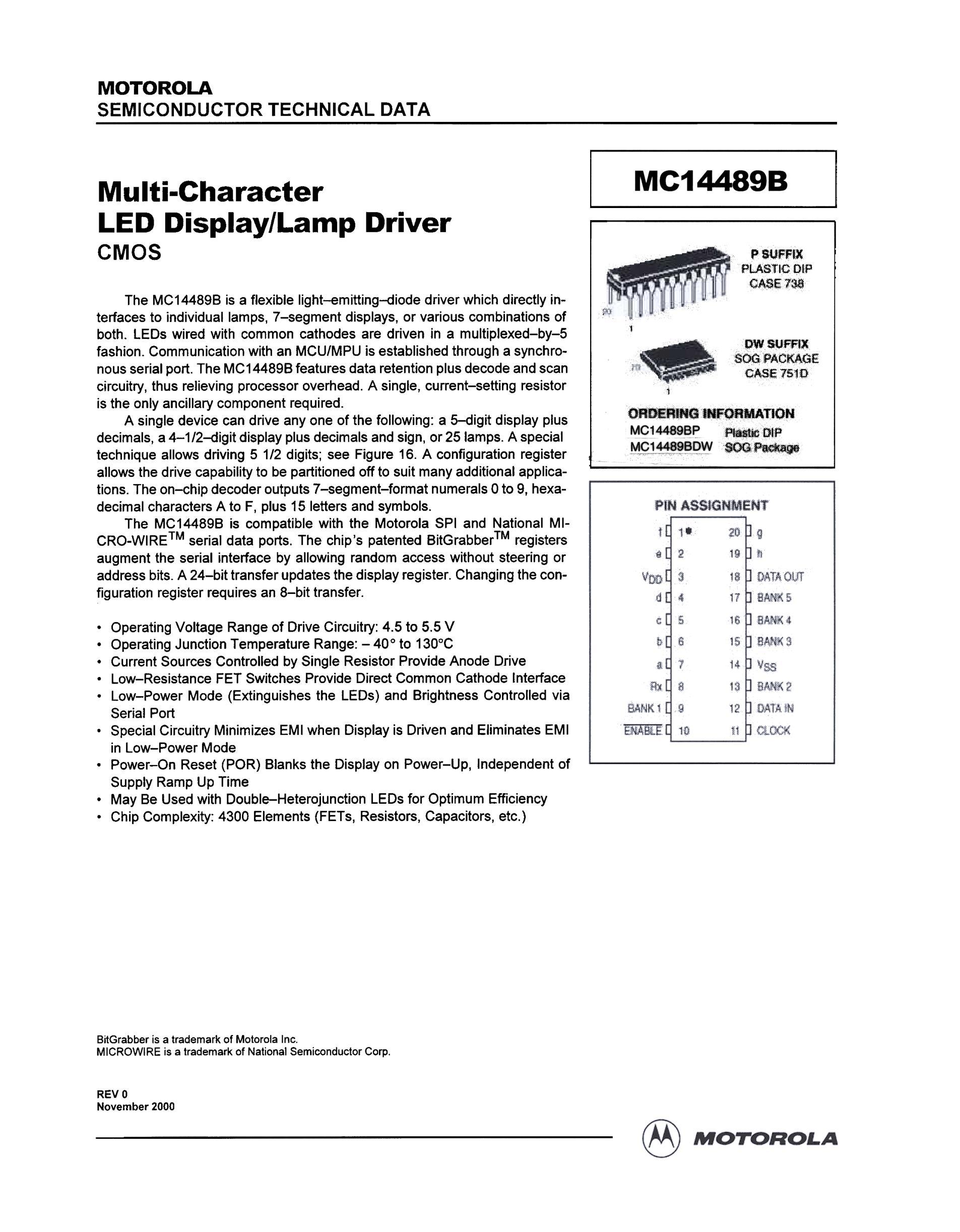 MC14489BP's pdf picture 1