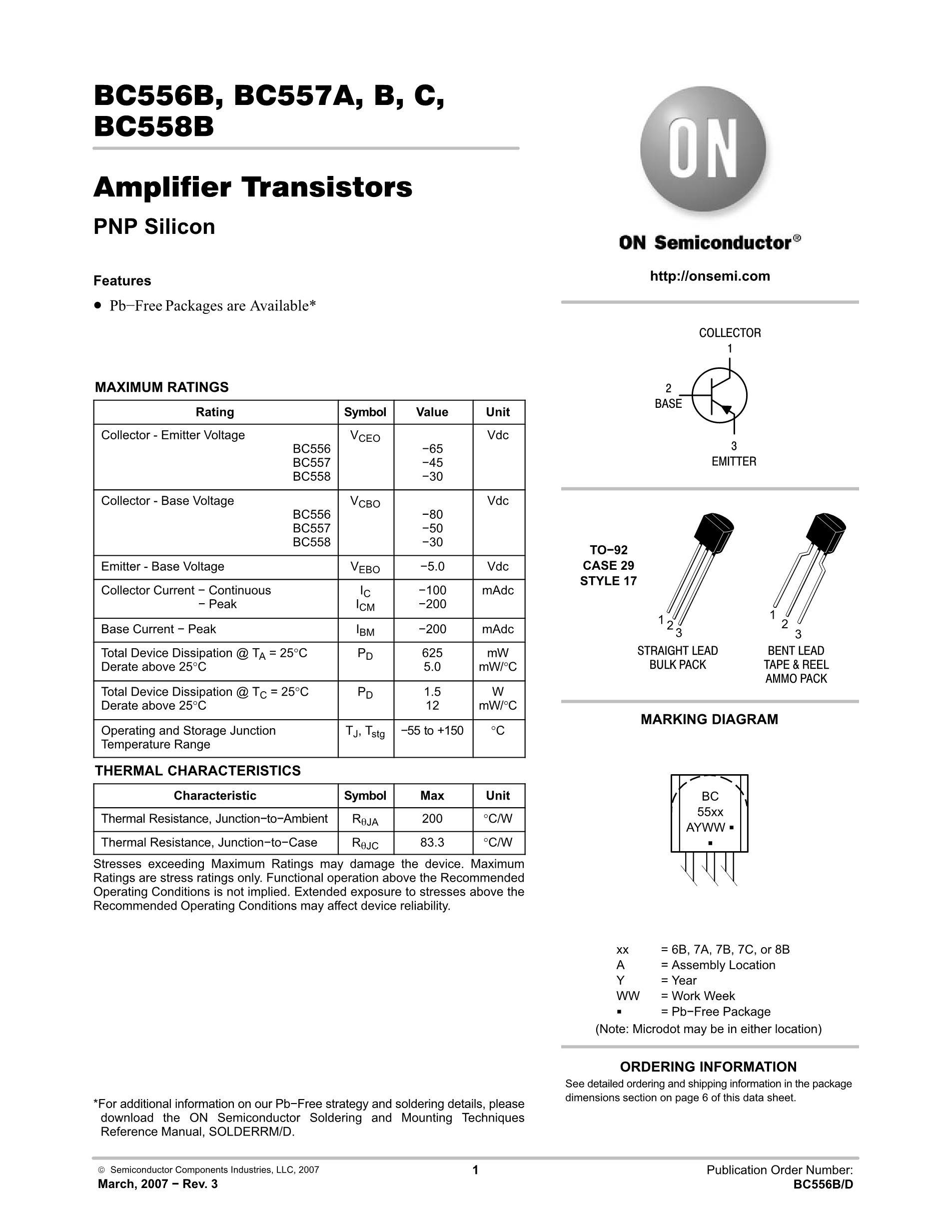 BC557BRL1G's pdf picture 1