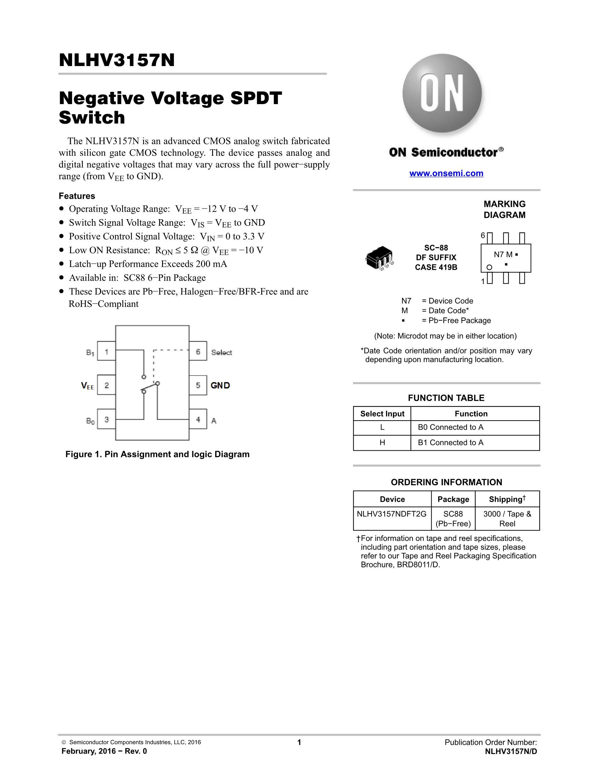 NLHV3157NDFT2G's pdf picture 1