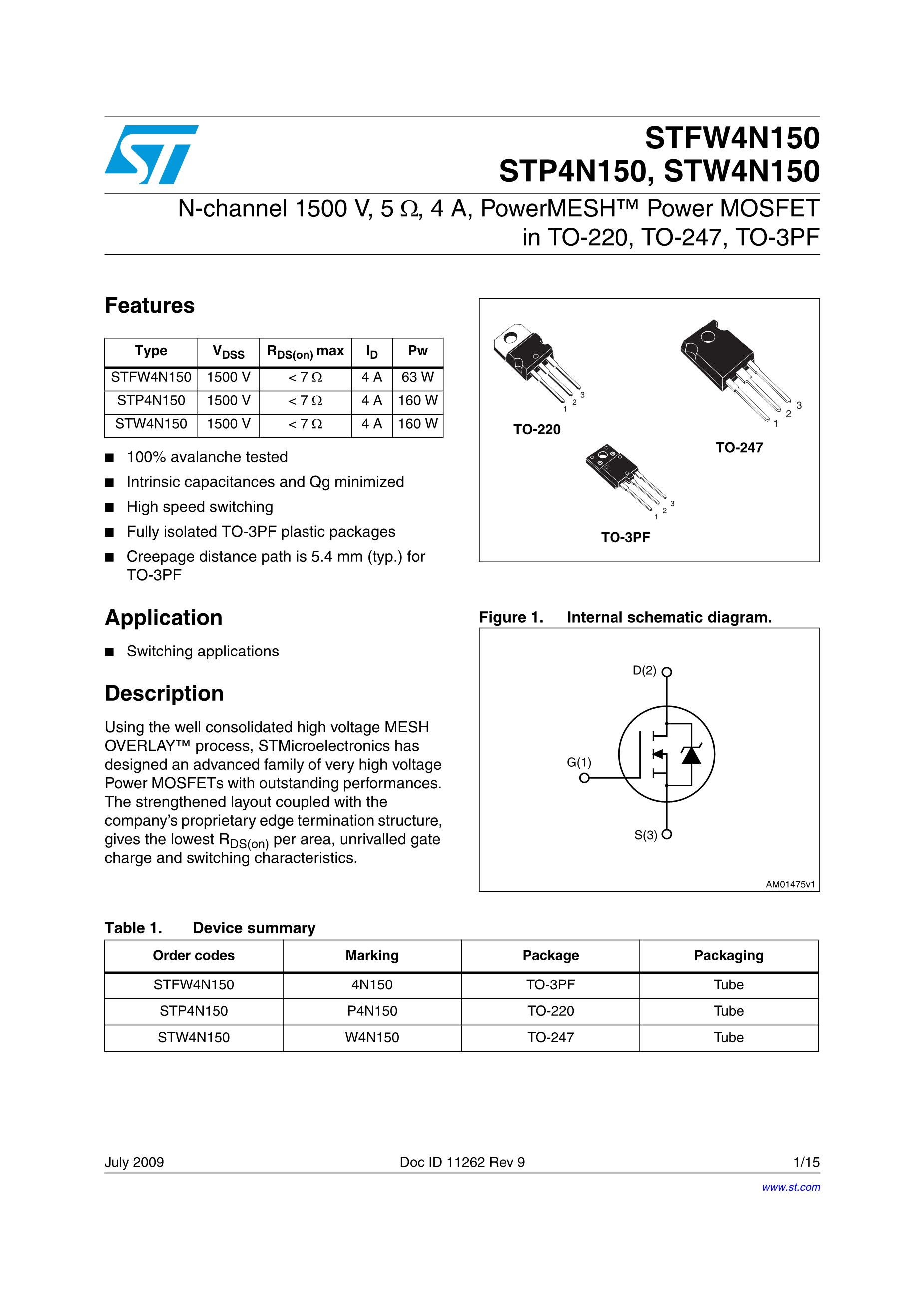 STP40NS15's pdf picture 1