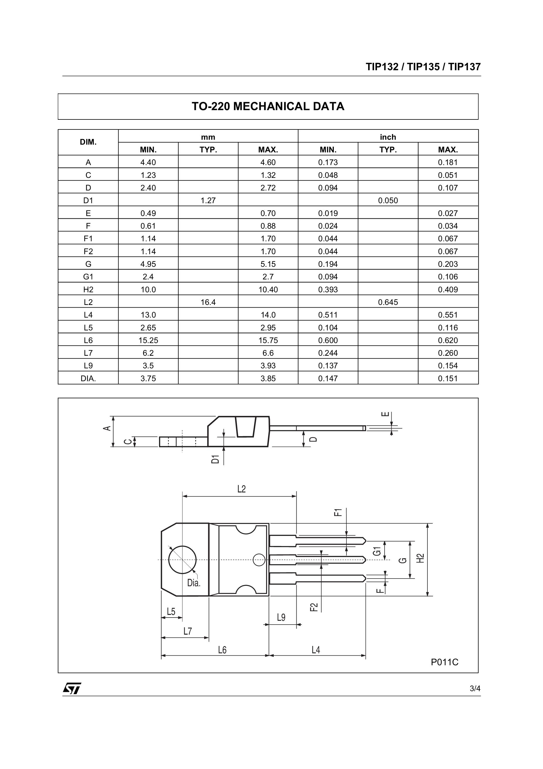 STMicroelectronics TIP132's pdf picture 3