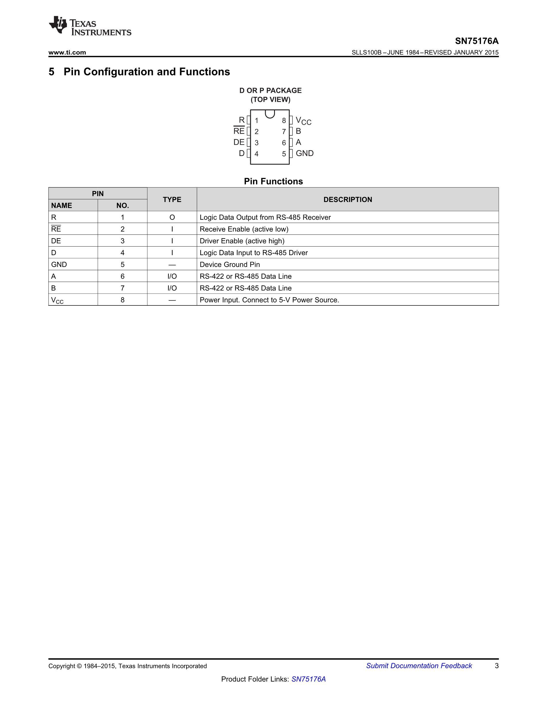 SN75176AD's pdf picture 3