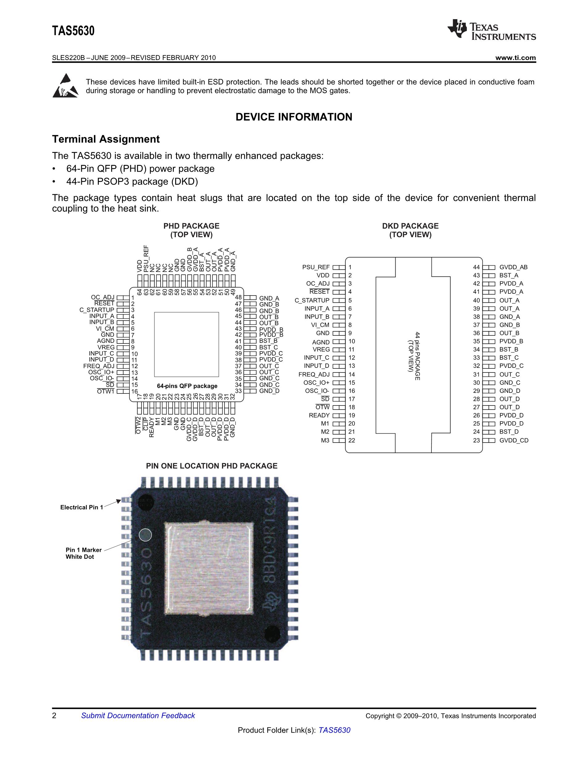 TAS5518PAGG4's pdf picture 2
