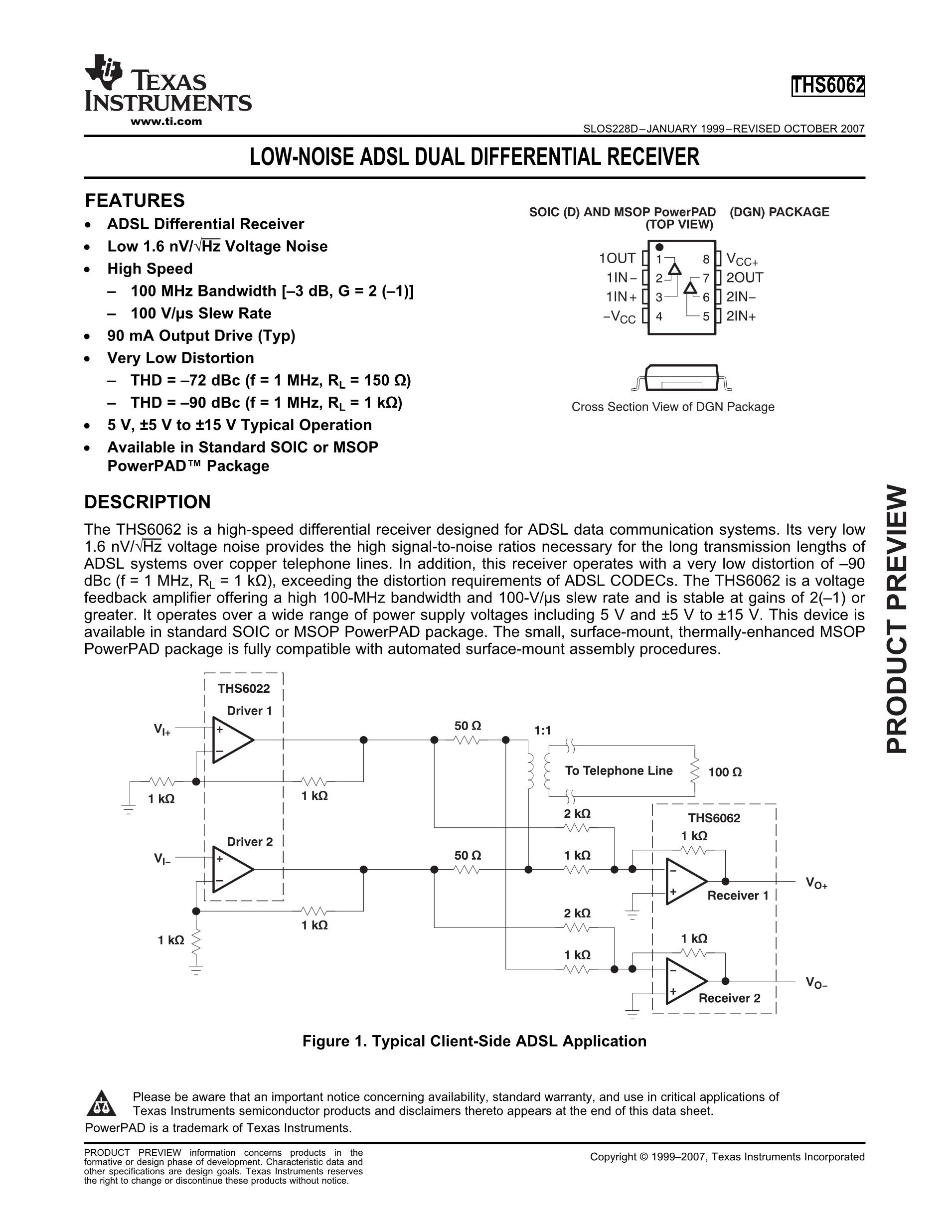 THS6052CDDAG3's pdf picture 1