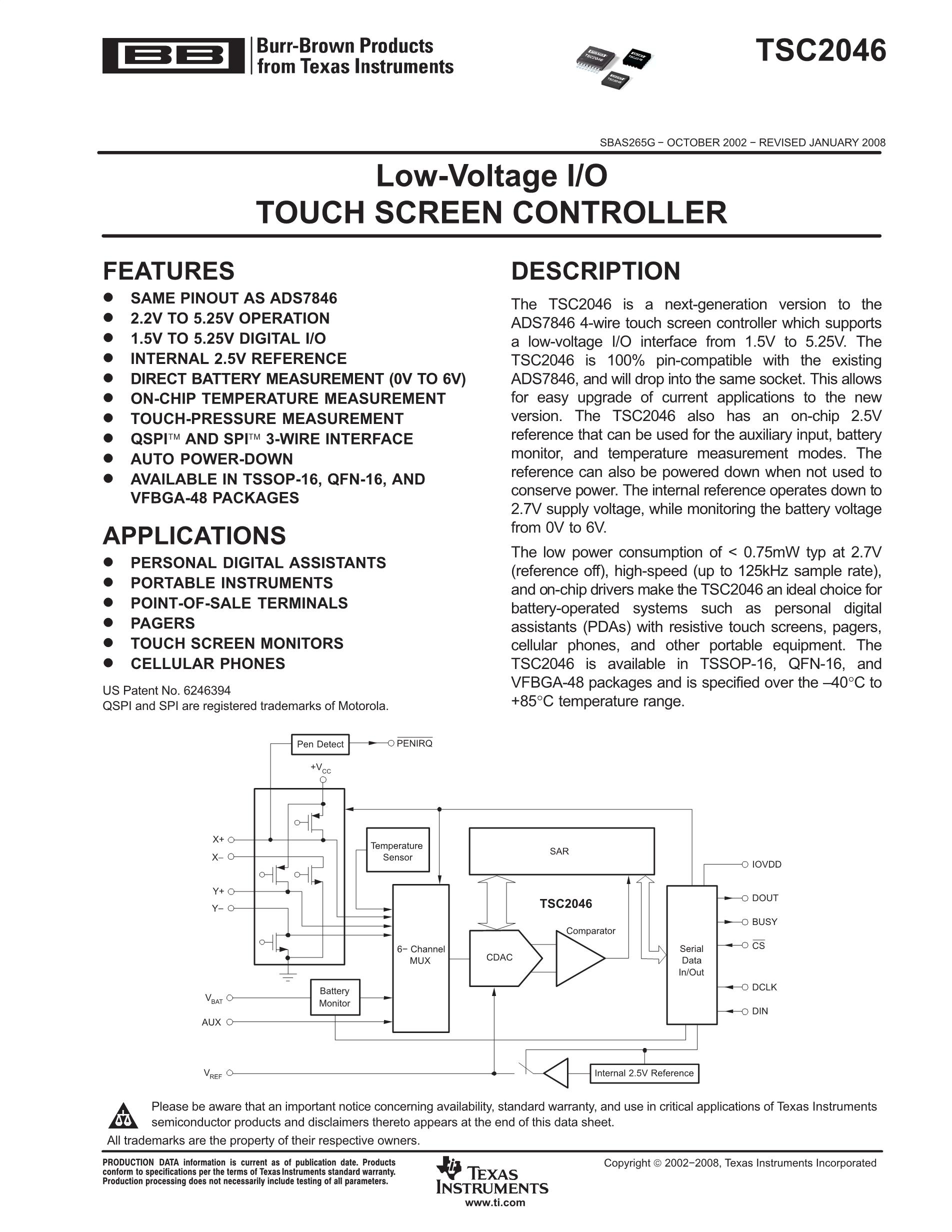 TSC2101IRGZR's pdf picture 1