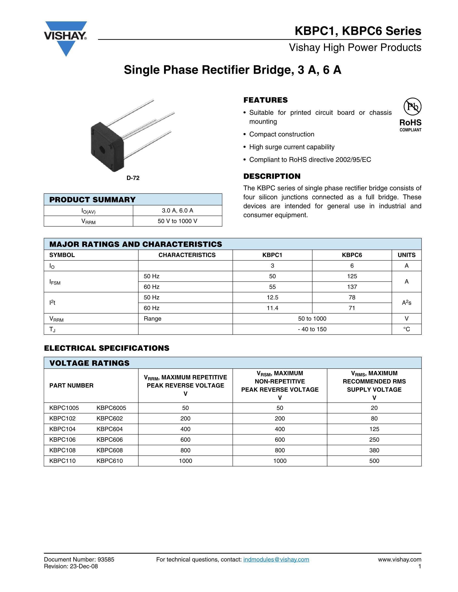 KBPC610's pdf picture 1