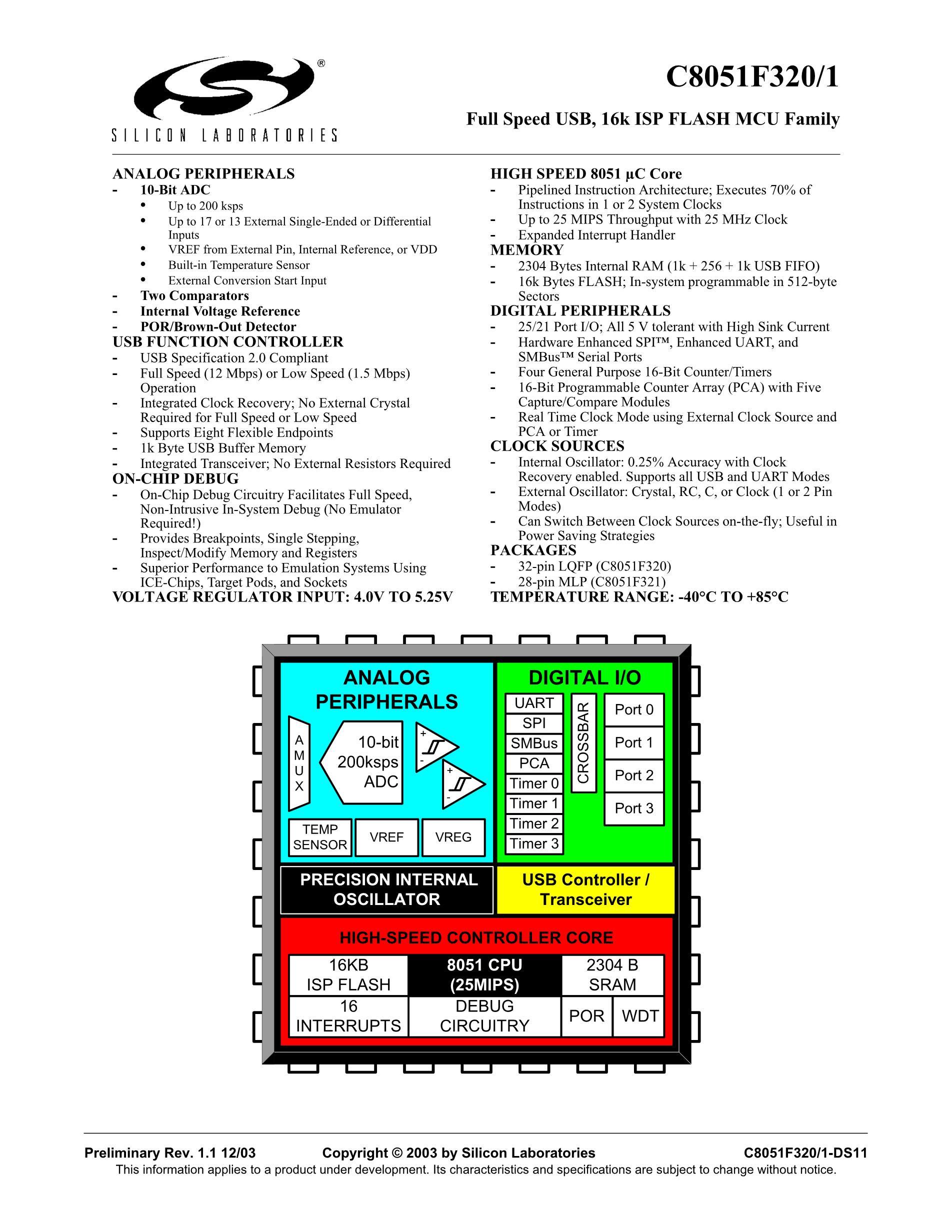 C8051F023-GMR's pdf picture 1