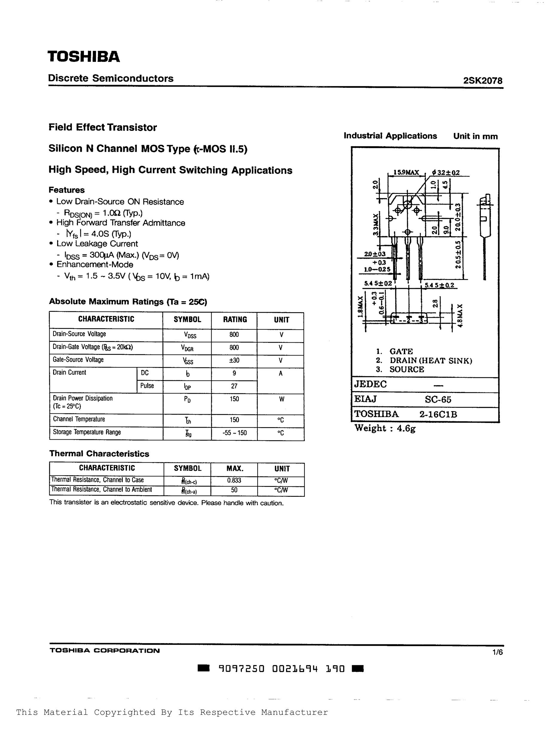 2SK2158's pdf picture 1