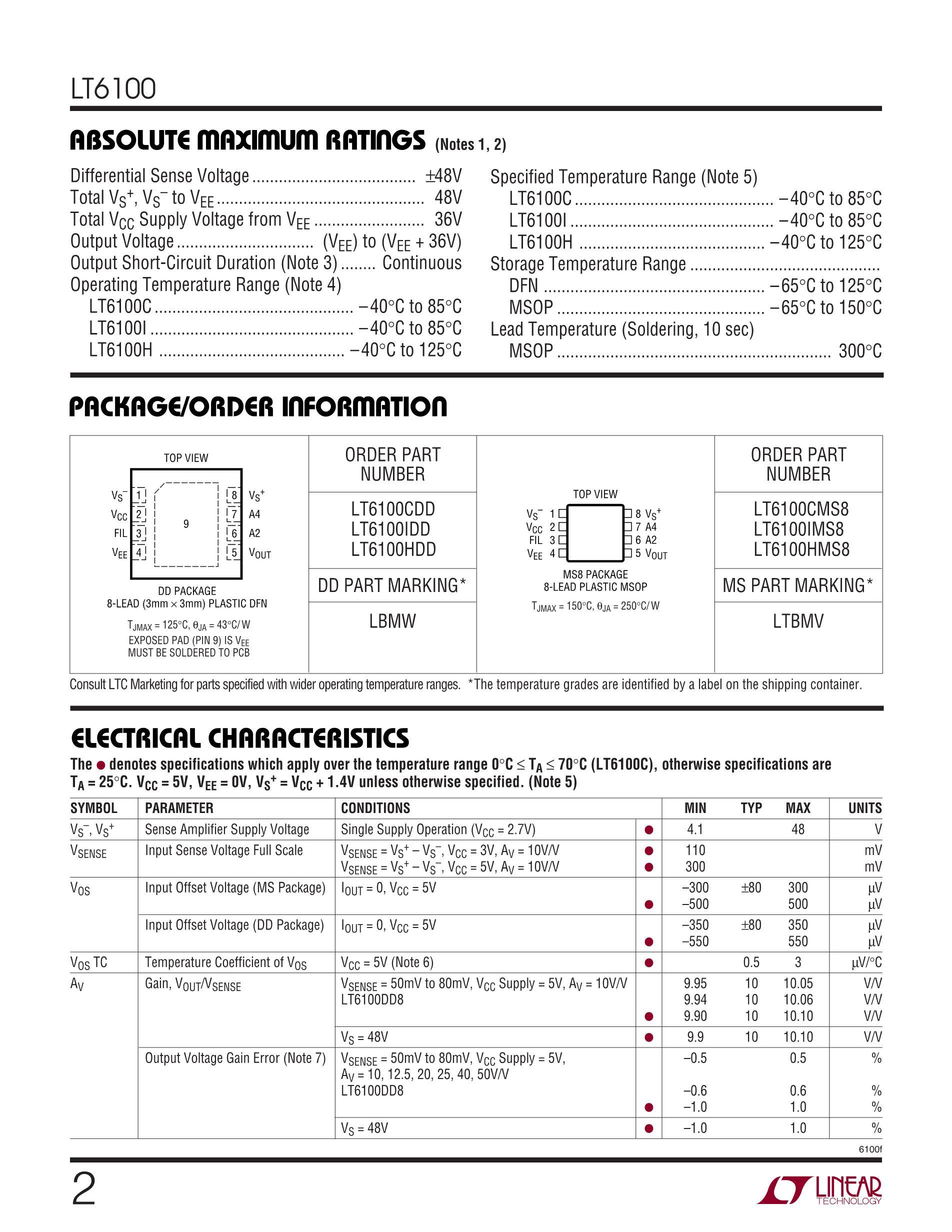 LT6108AIMS8-1#PBF's pdf picture 2