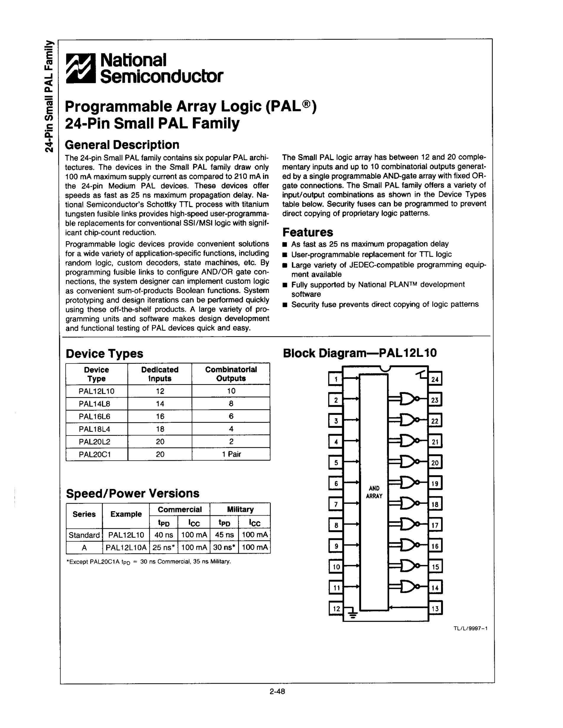 PAL20L8A-2CJS's pdf picture 1