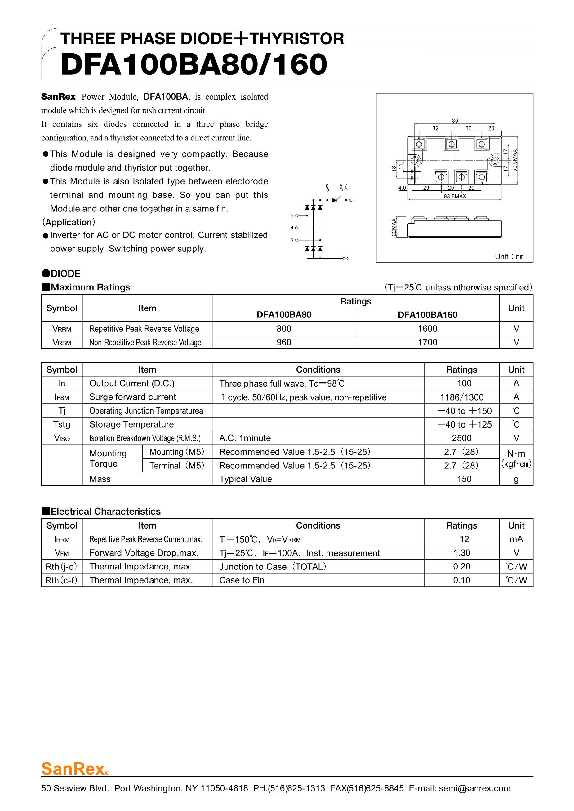 DFA150BA80's pdf picture 1