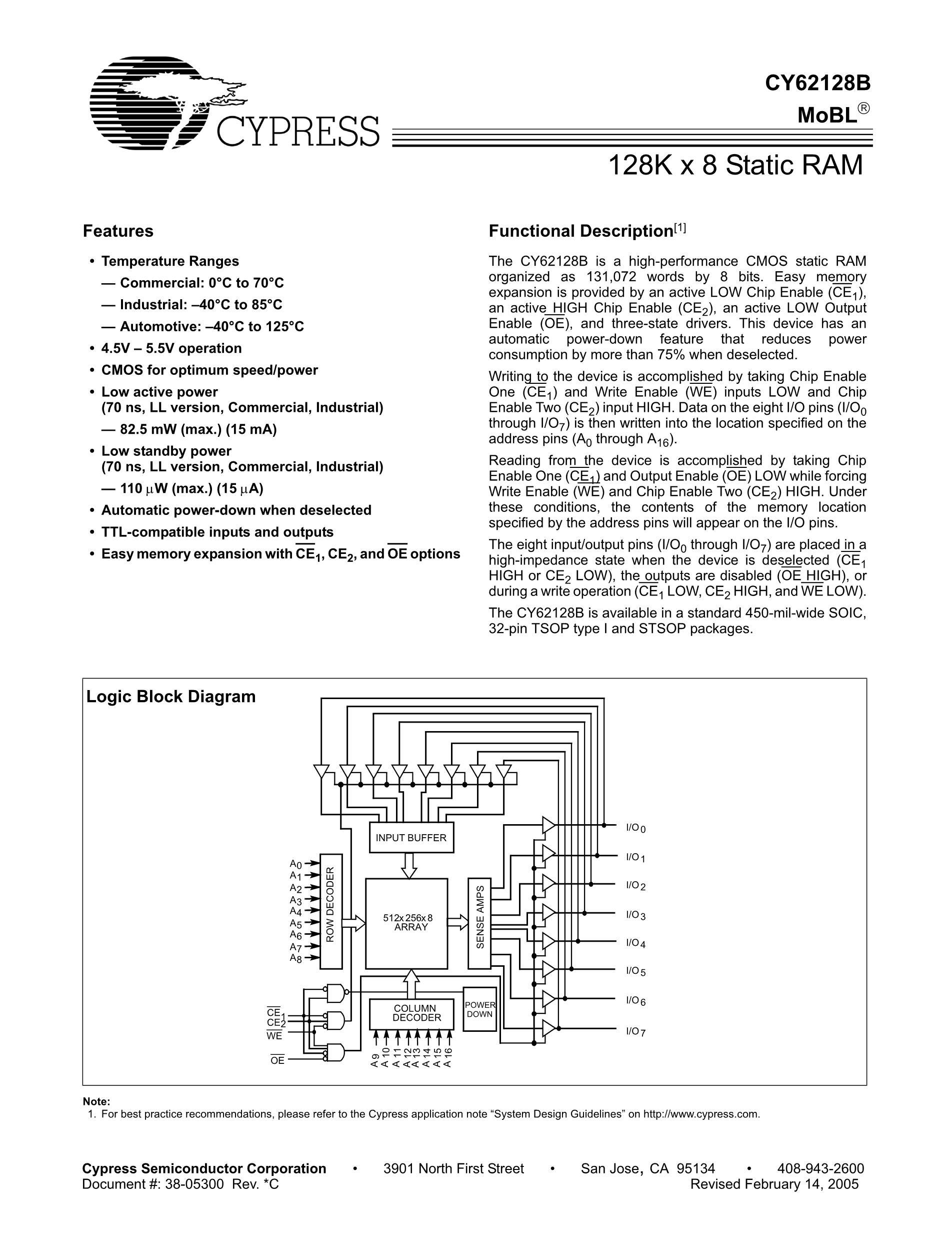 CY62177DV33LL-55BAX's pdf picture 1