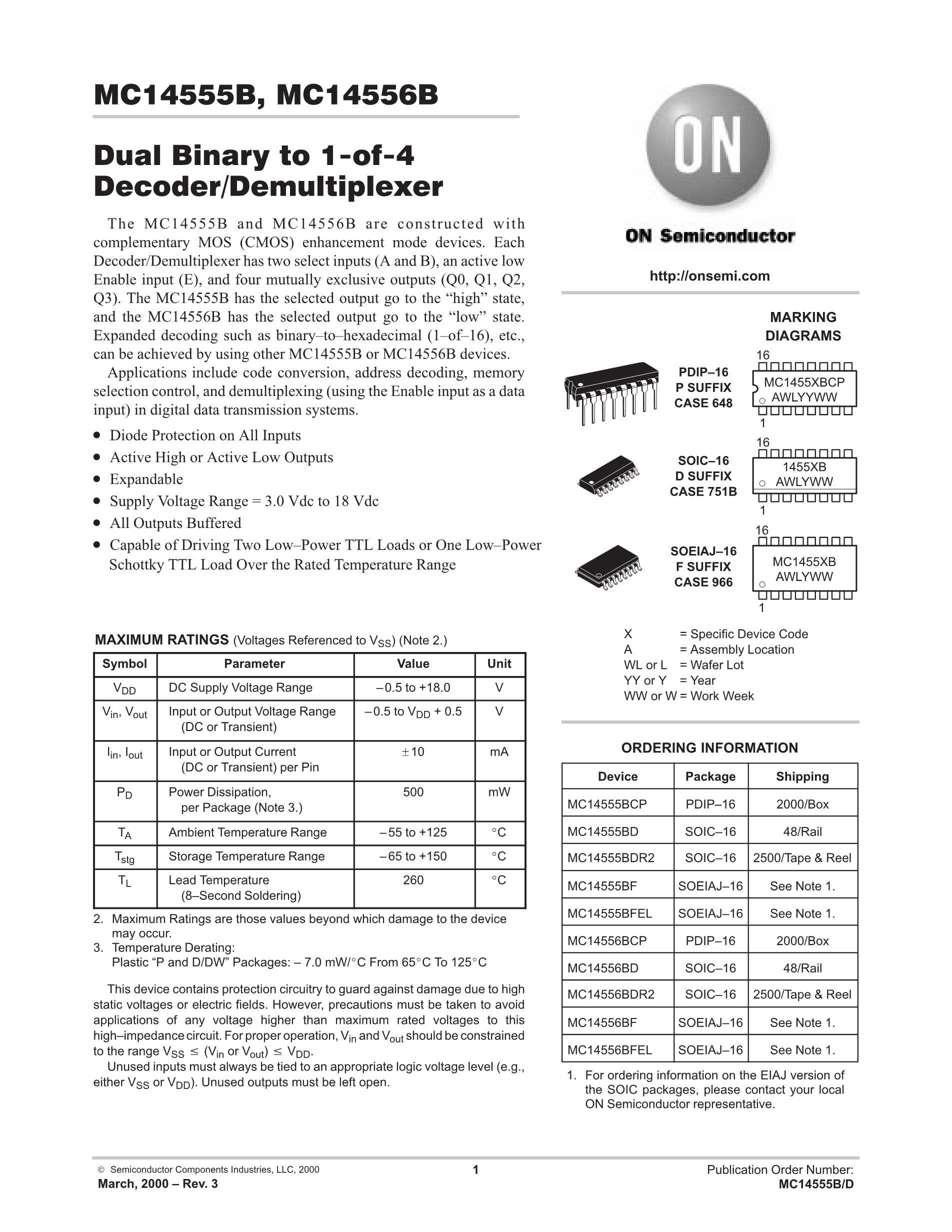 MC14555BCP's pdf picture 1