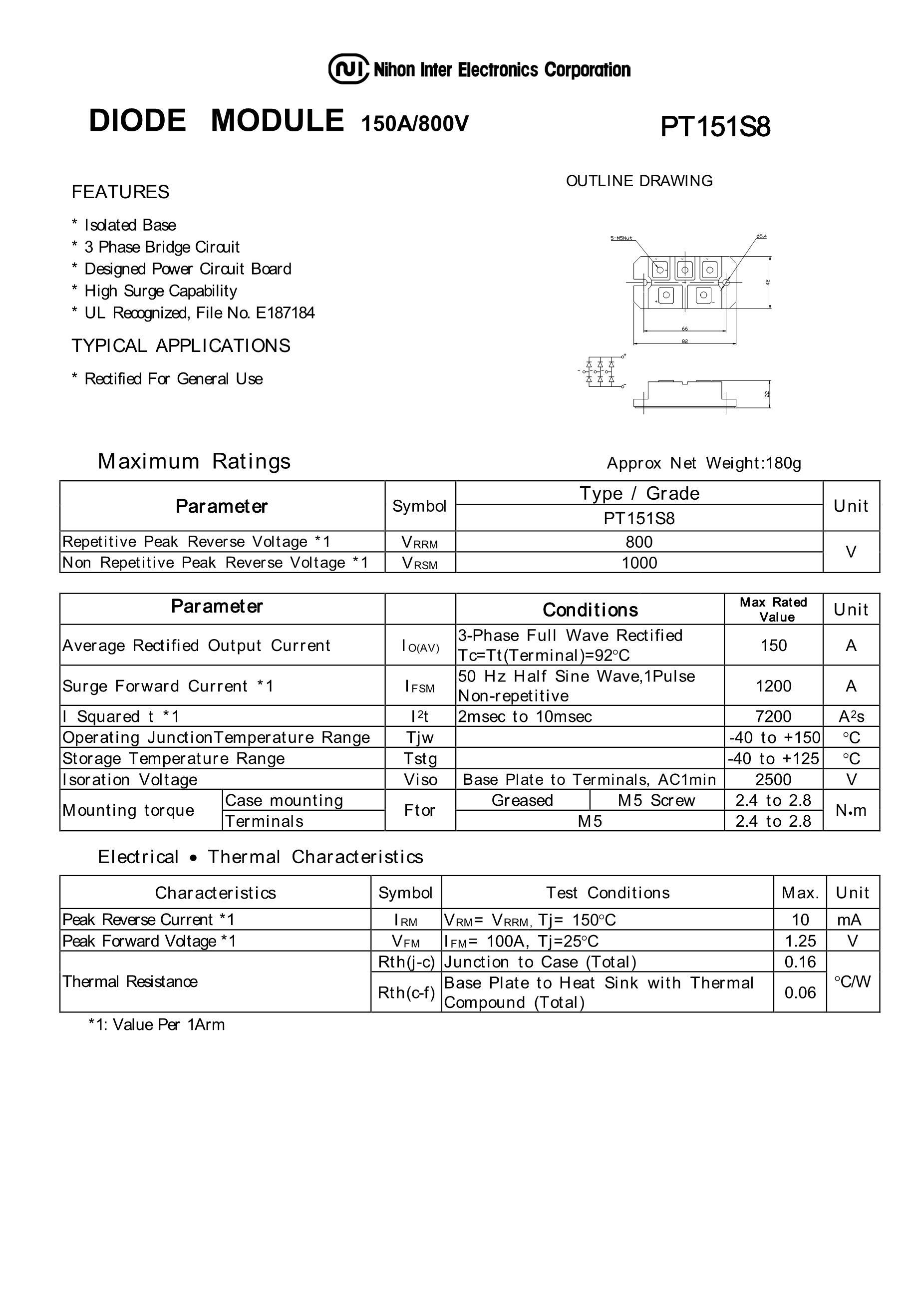 PT150S16A's pdf picture 1