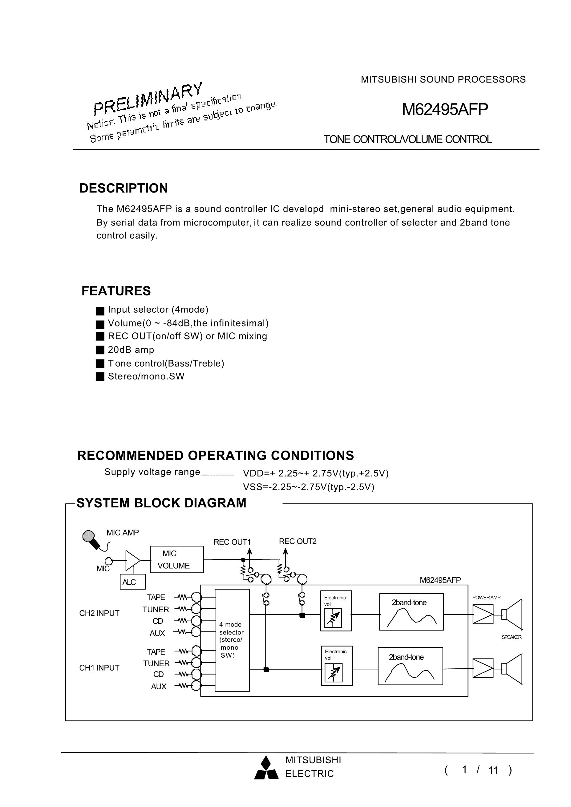 M62497FP's pdf picture 1