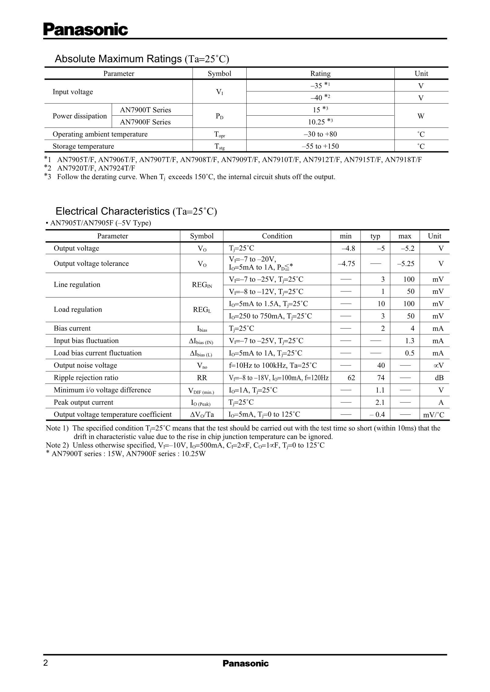 AN79L10M/BA's pdf picture 2
