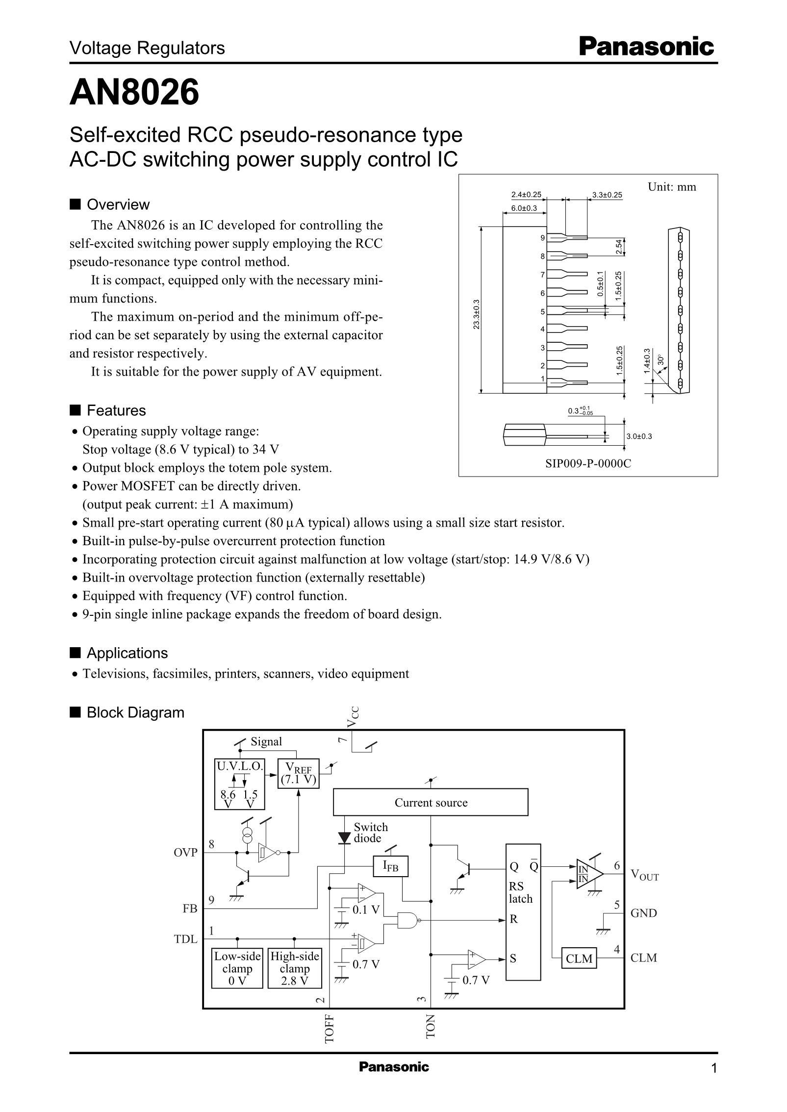 AN8076S-E1's pdf picture 1