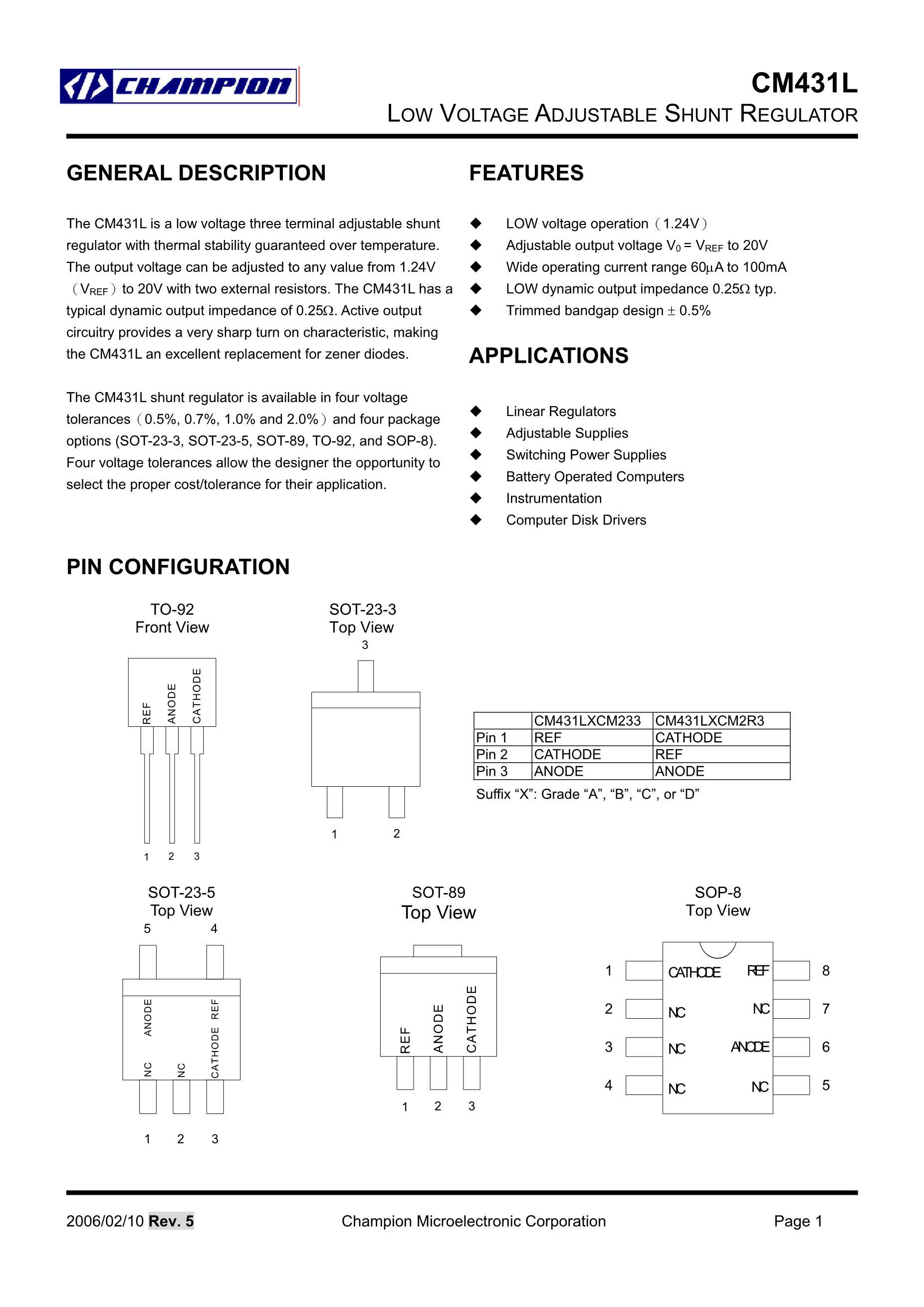 CM4312A2's pdf picture 1