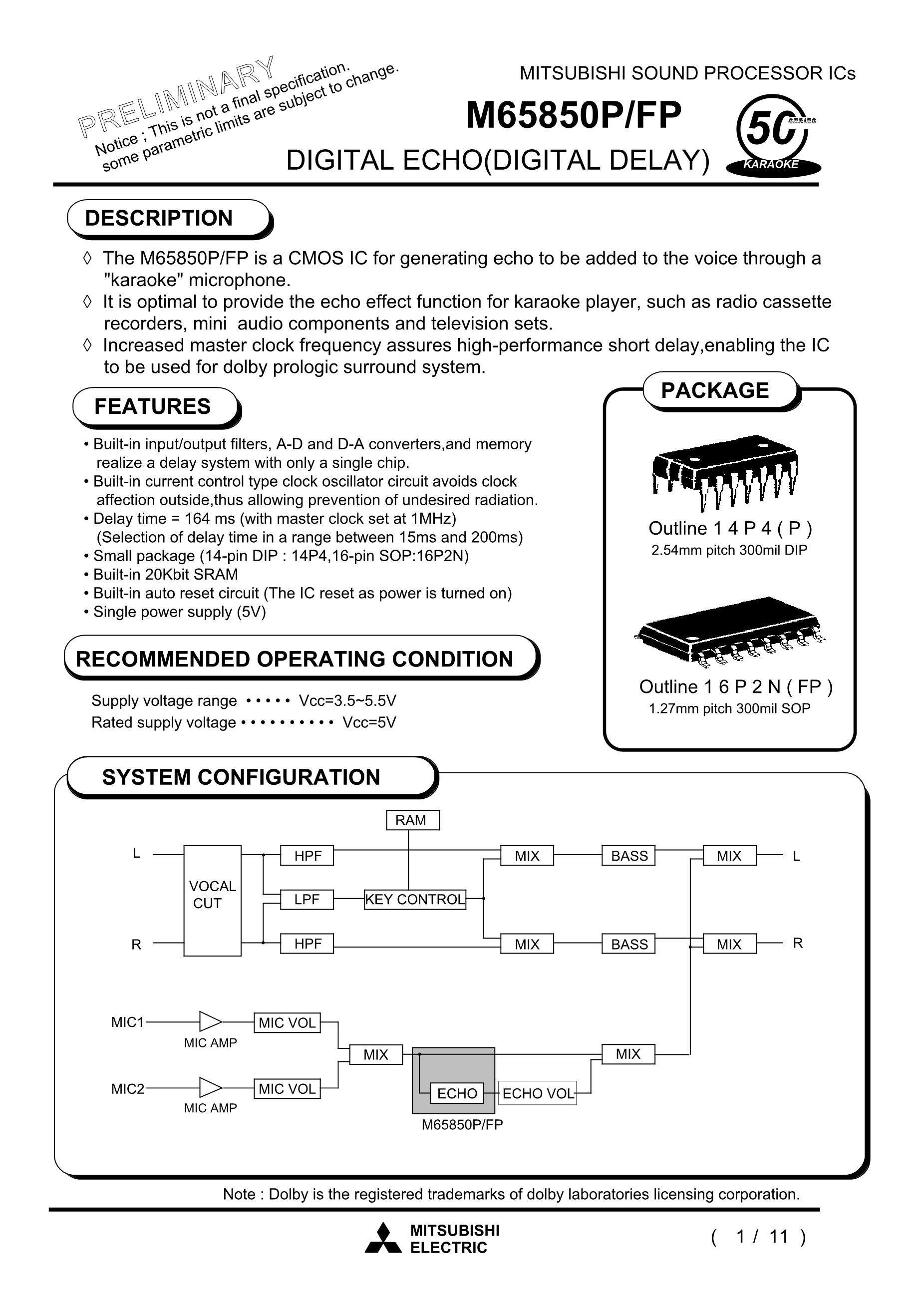 M65820FP's pdf picture 1