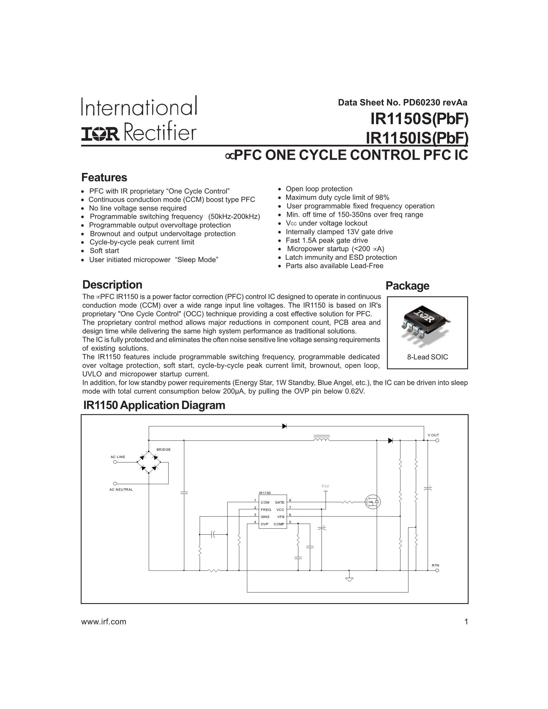 IR1150IPBF's pdf picture 1