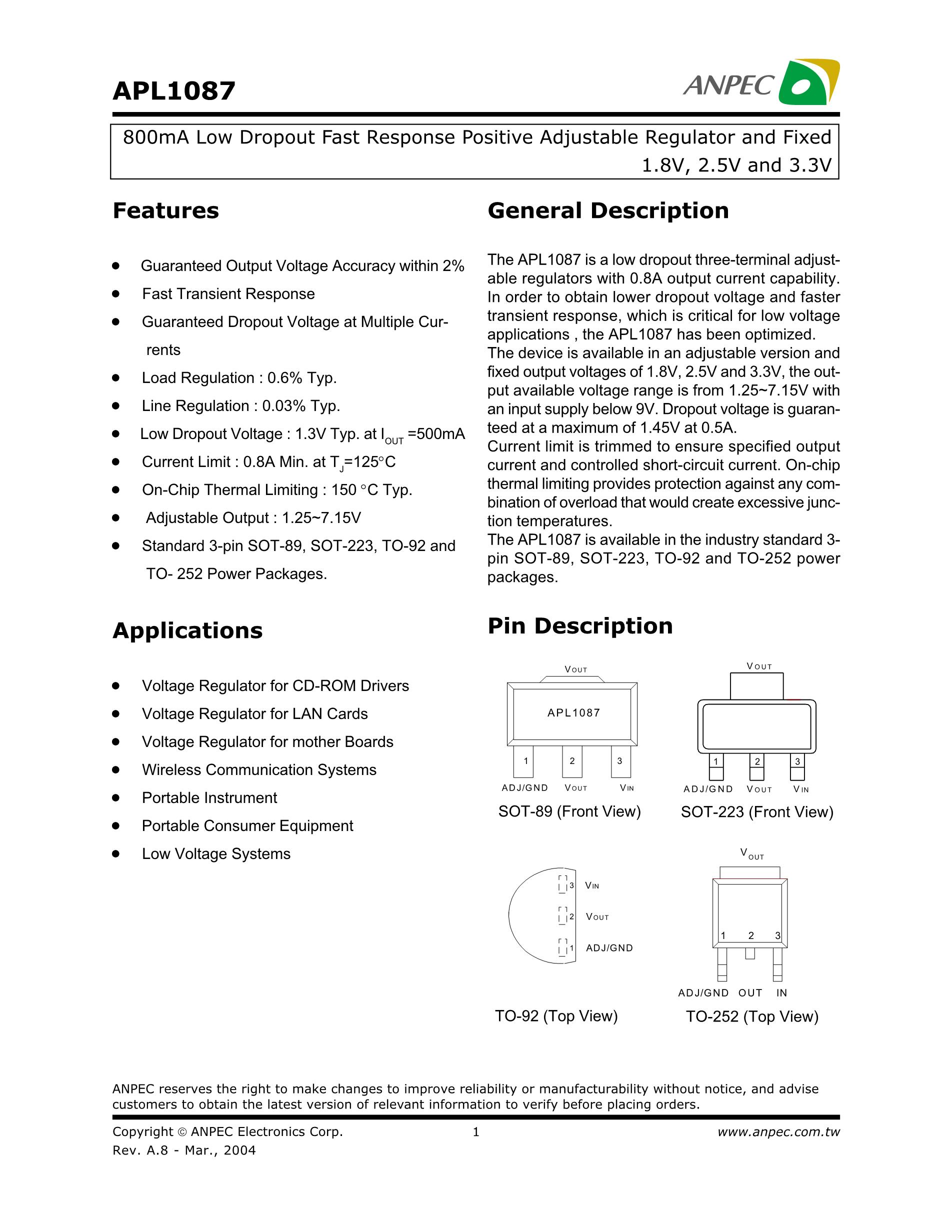 APL1085UC's pdf picture 1