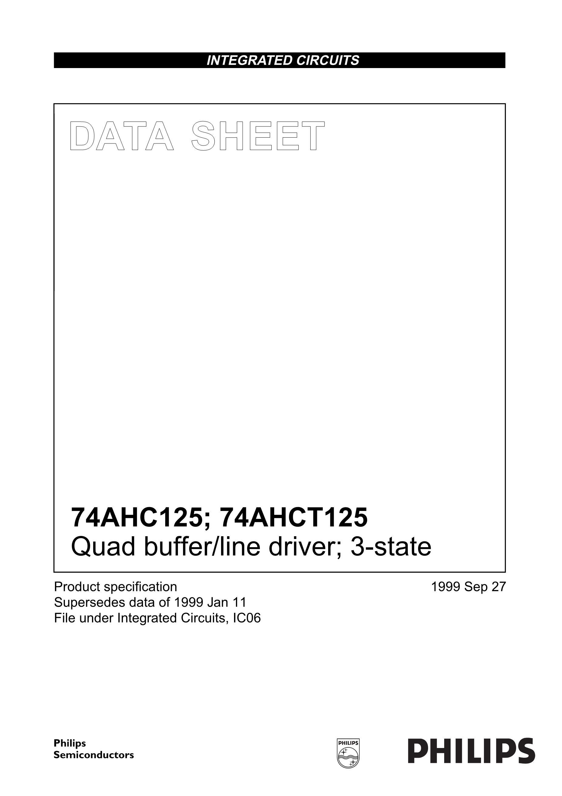 74AHCT1G126GF,132's pdf picture 1