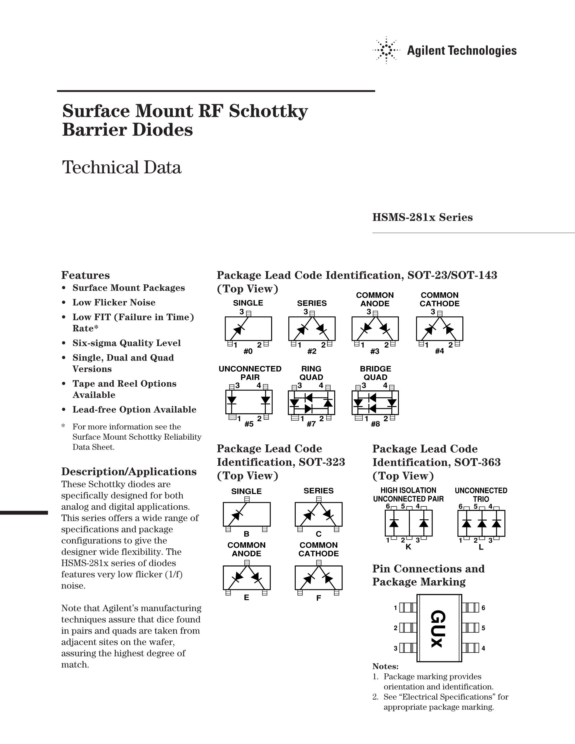 HSMS-2863-BLKG's pdf picture 1