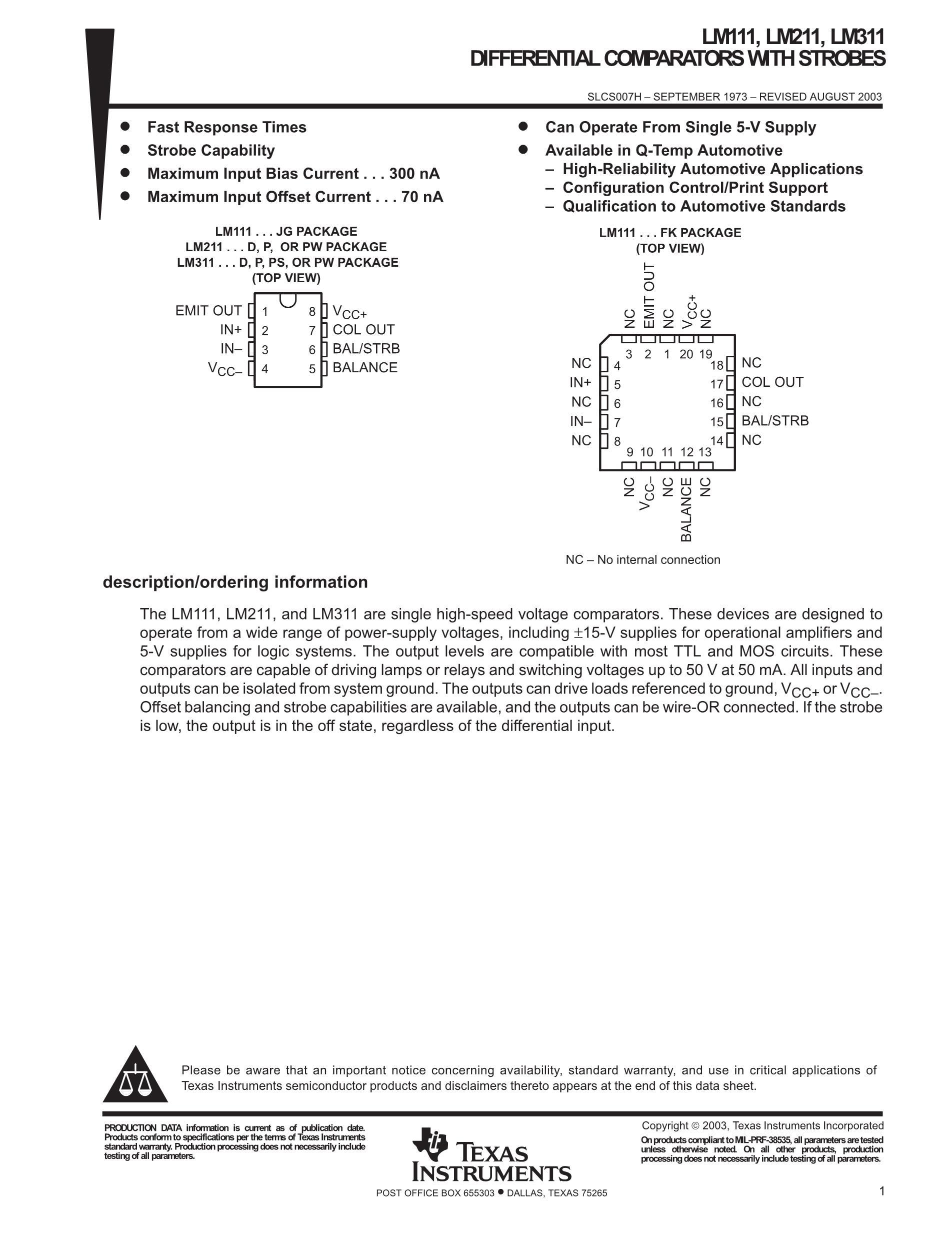 LM211DRE4's pdf picture 1