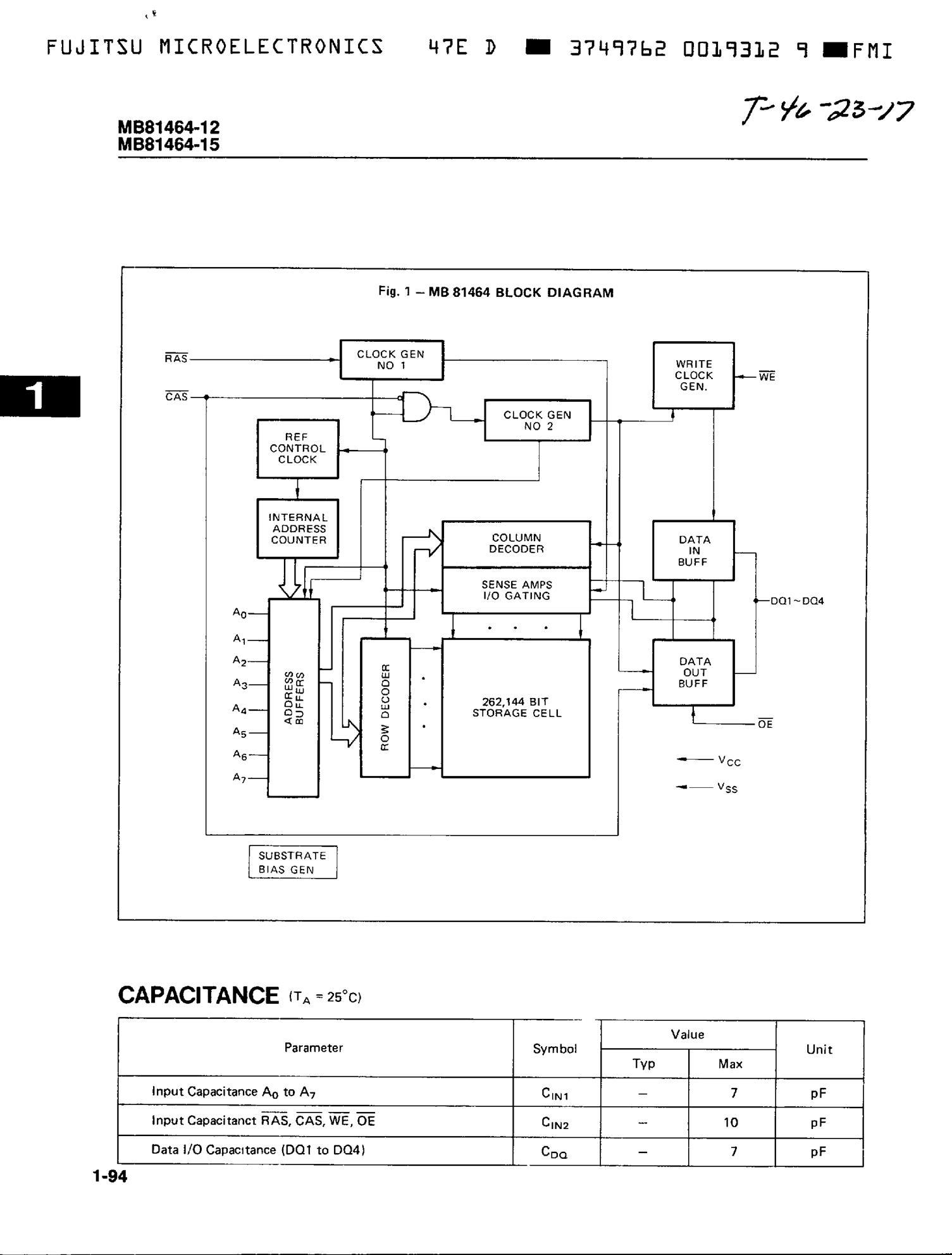 MB81461B-12's pdf picture 2