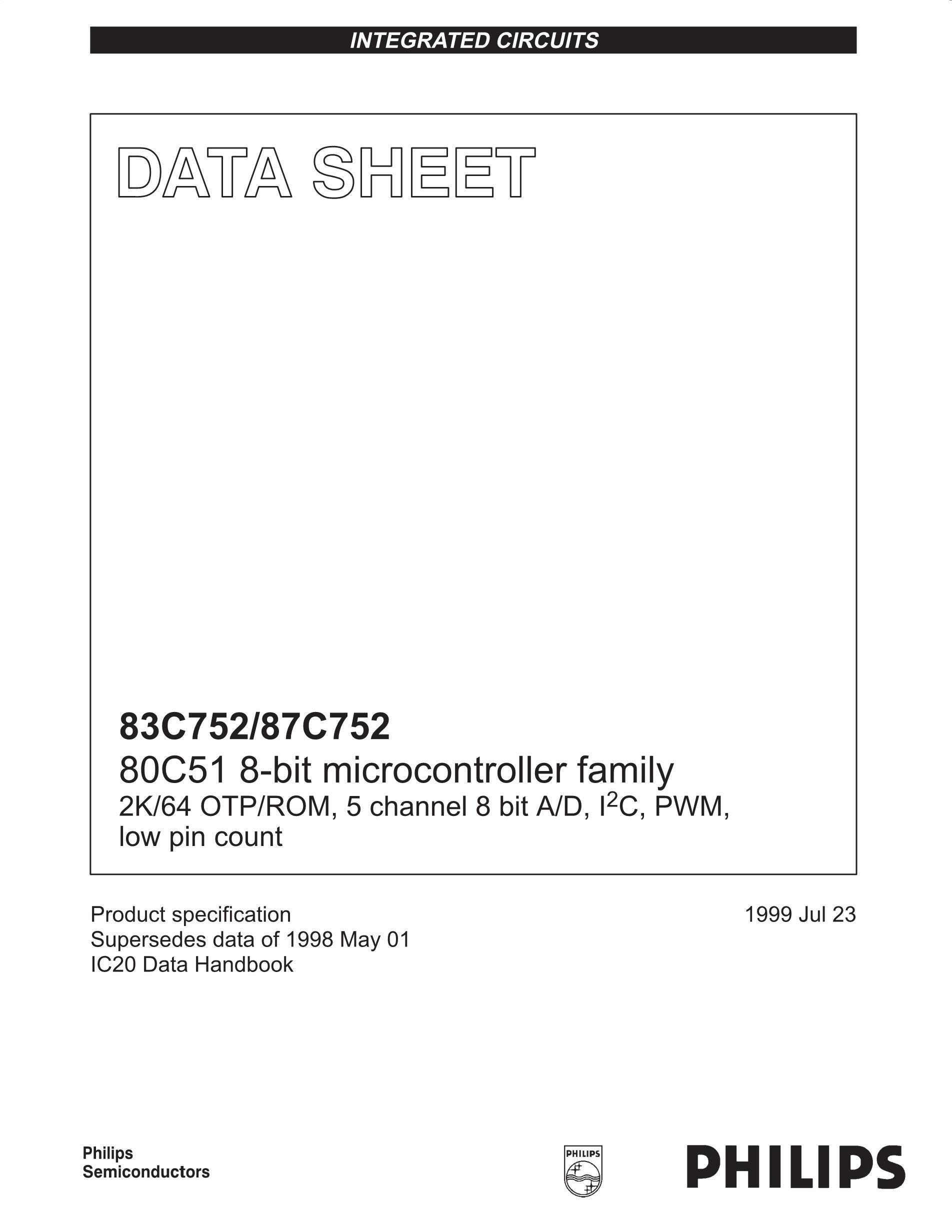 S87C654-5F40's pdf picture 1