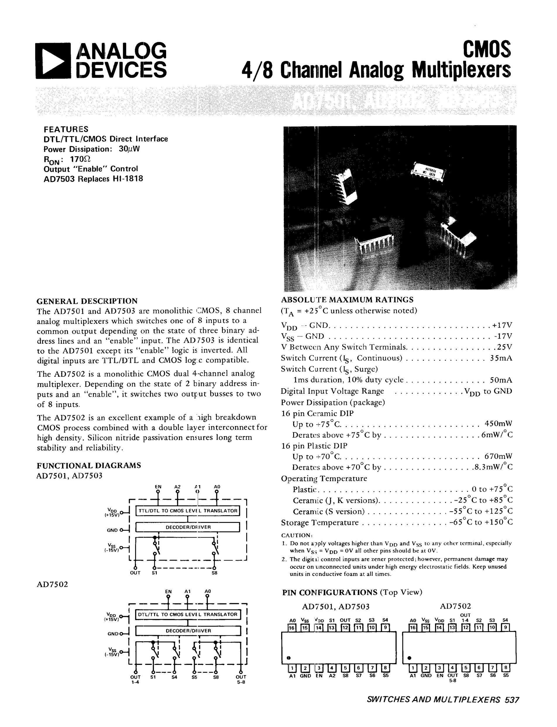AD7521JD's pdf picture 1