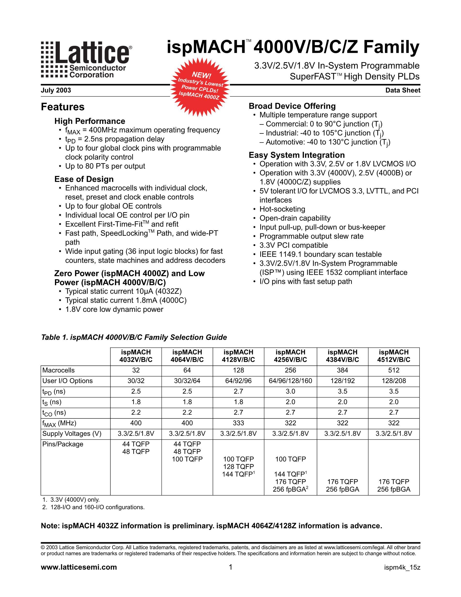 LC4384V-35F256-10I's pdf picture 1