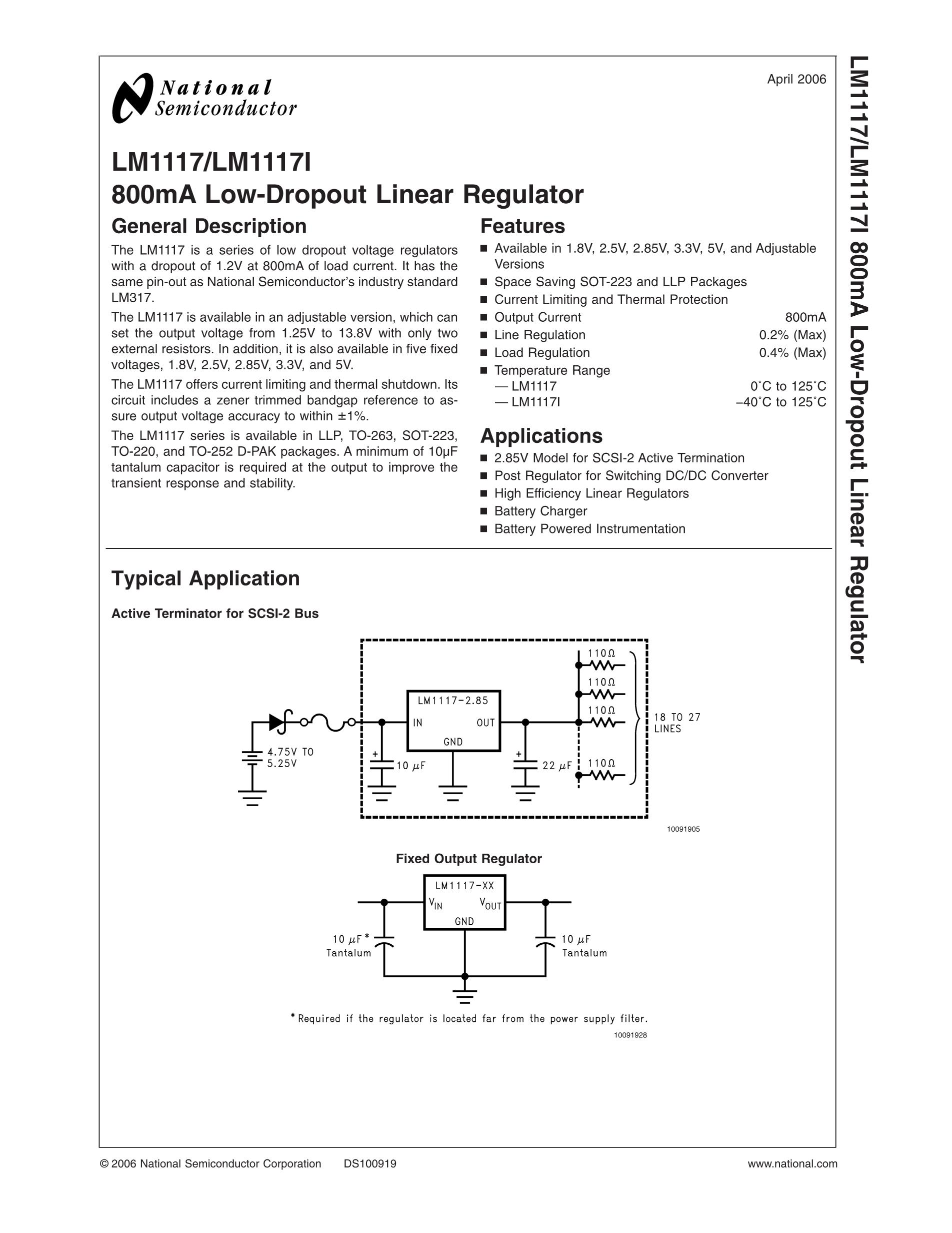 LM118CH/883's pdf picture 1