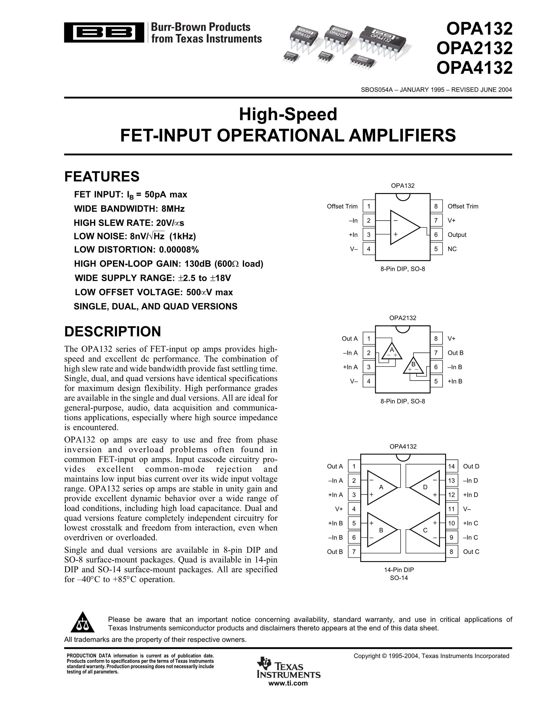 OPA4340UA/2K5's pdf picture 1