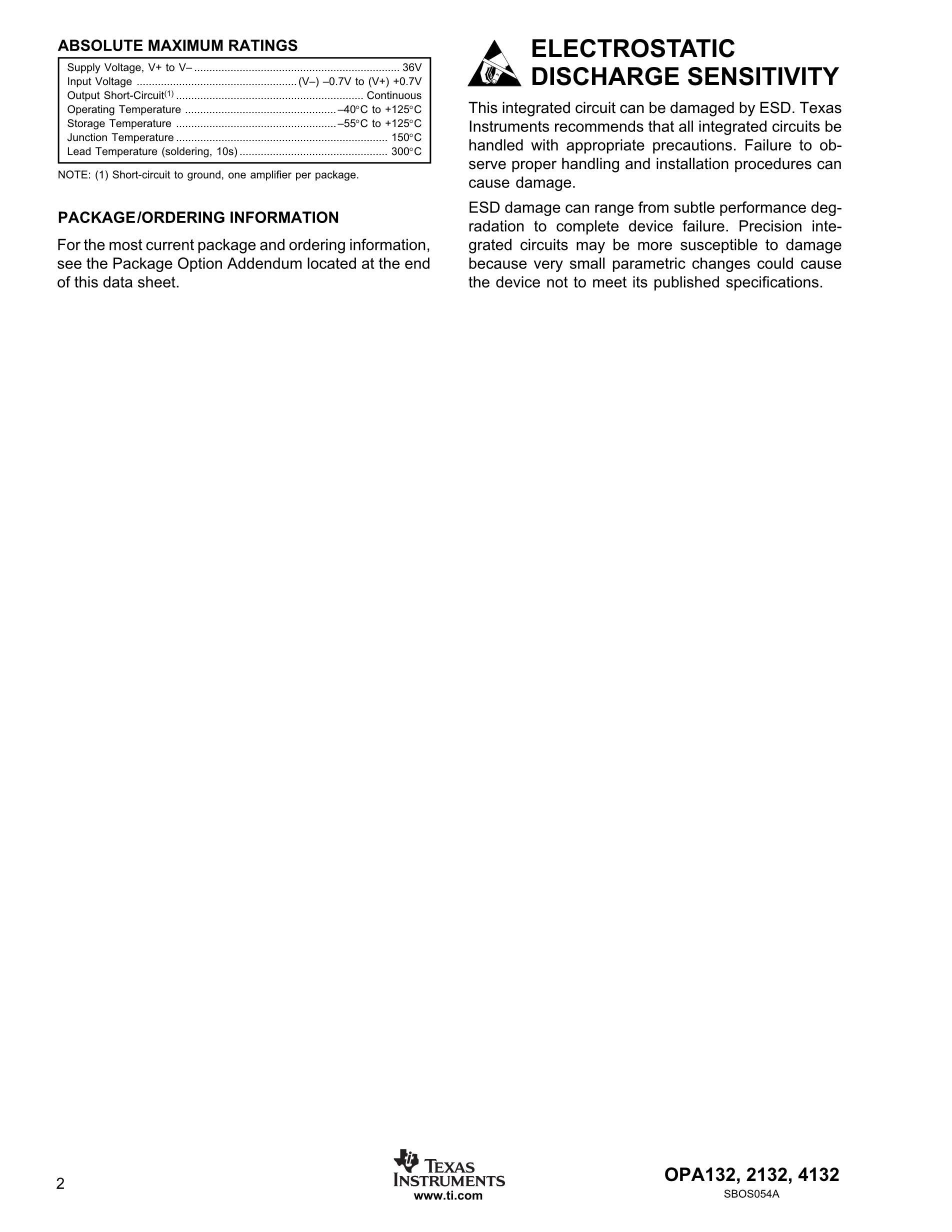 OPA4340UA/2K5's pdf picture 2