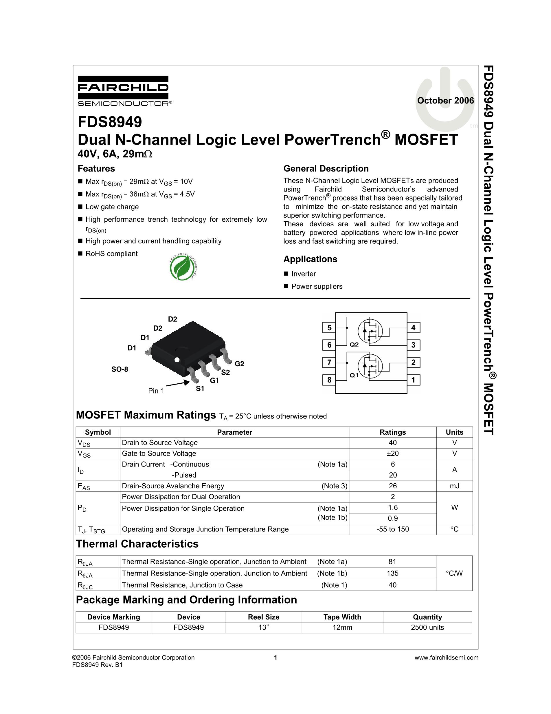 FDS8672S's pdf picture 1