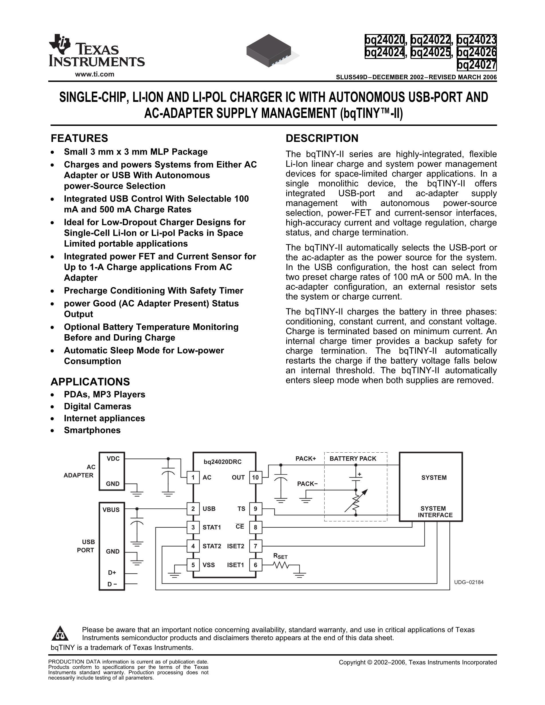 BQ24261MRGER's pdf picture 1