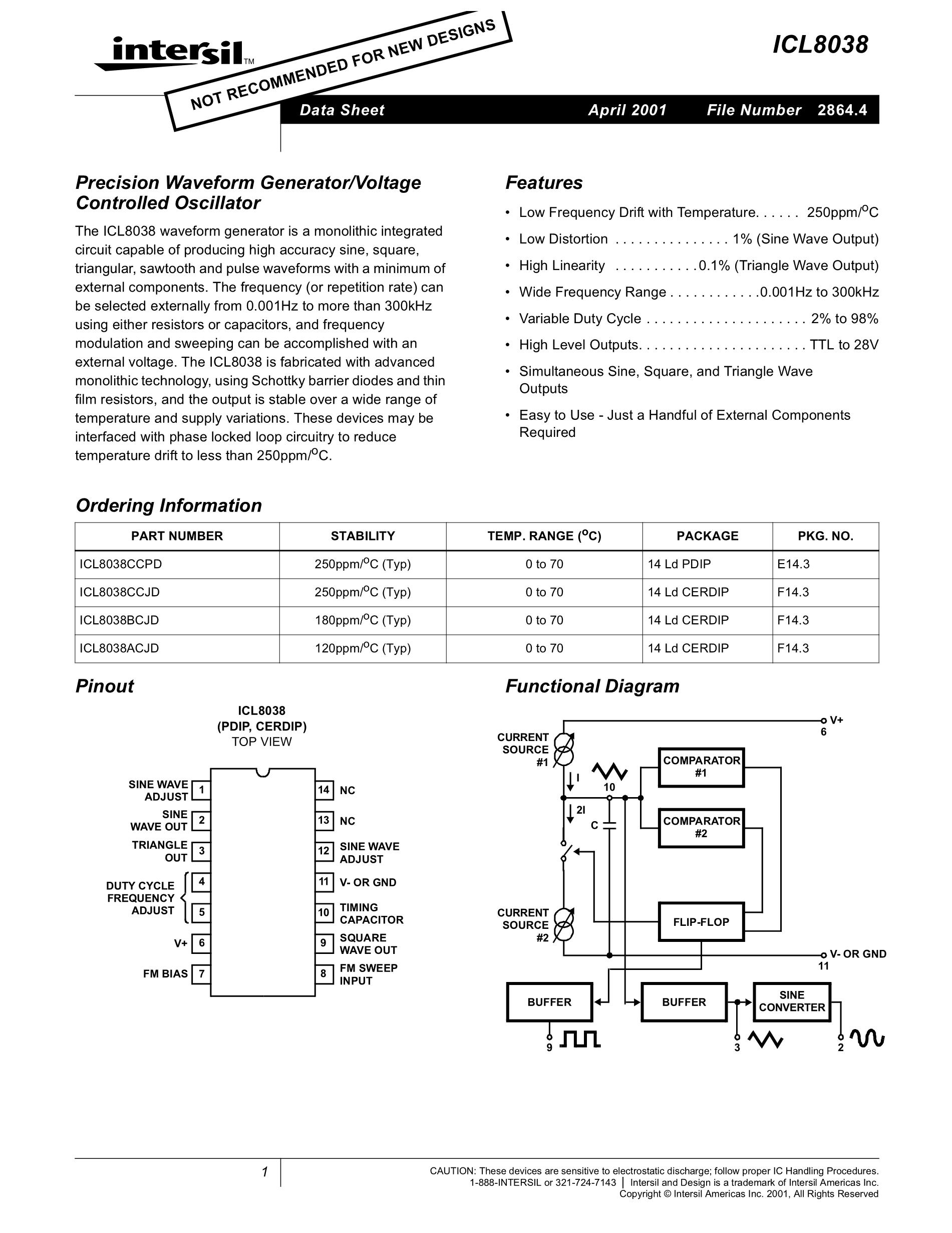 ICL8211CP's pdf picture 1