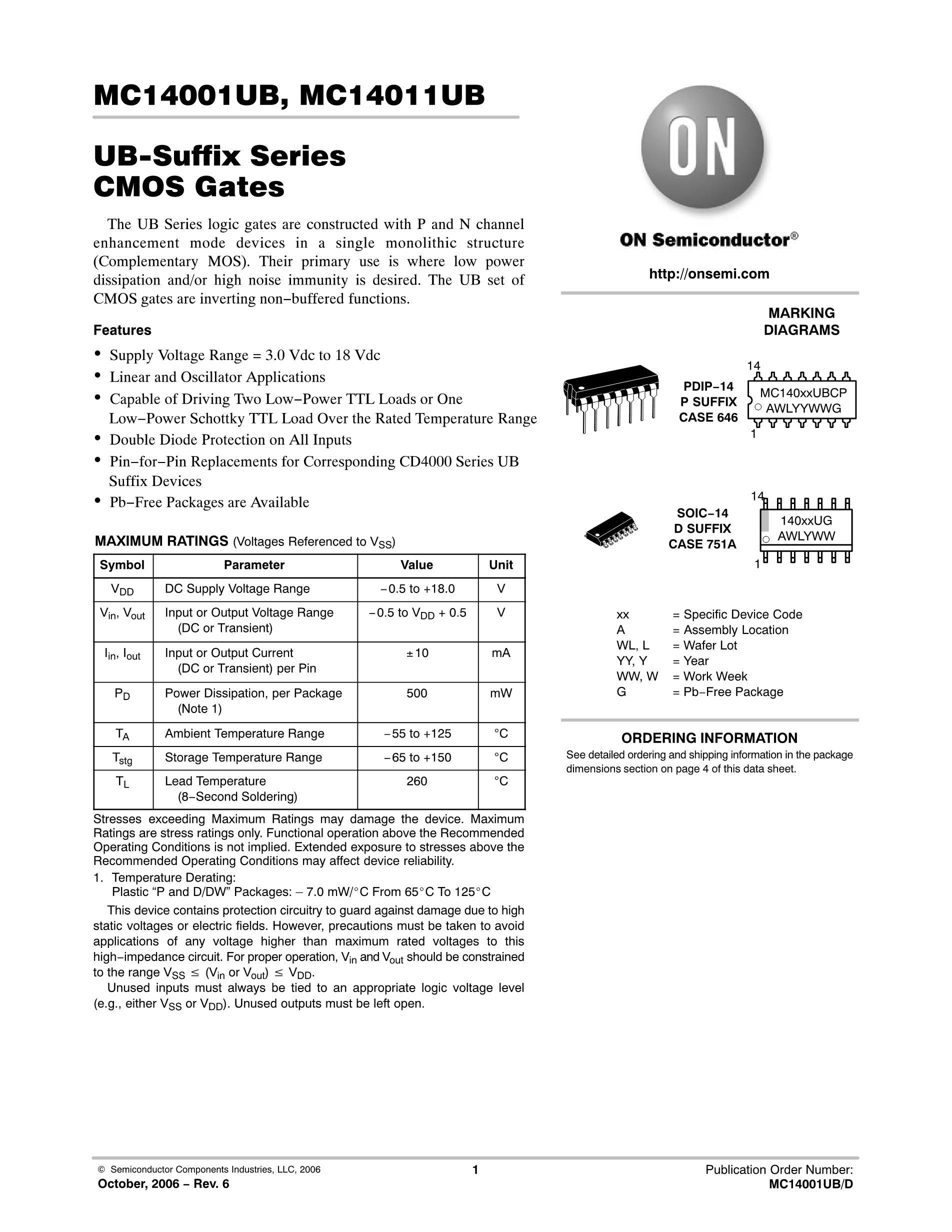 MC14585BDR2G's pdf picture 1