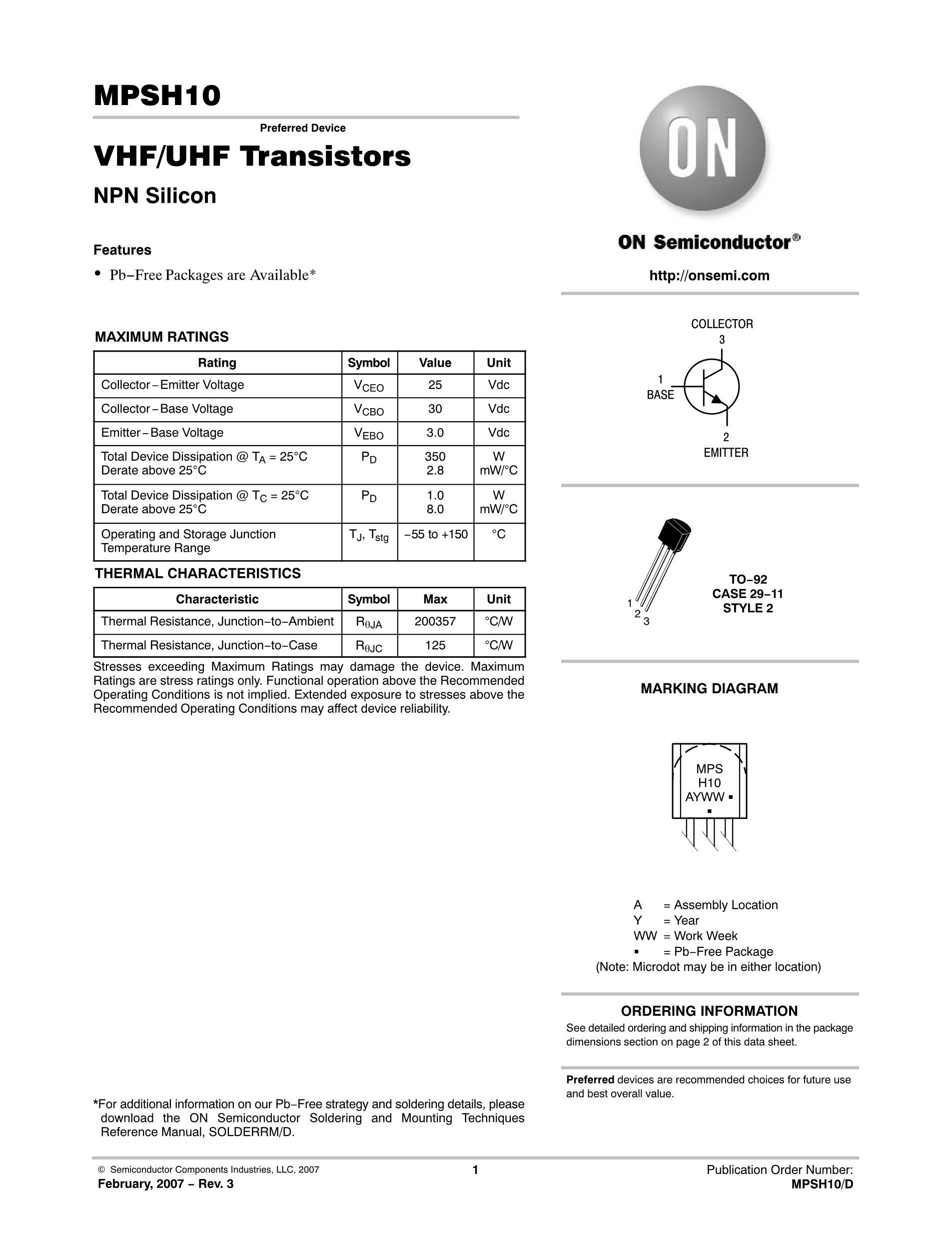MPSH10-B's pdf picture 1