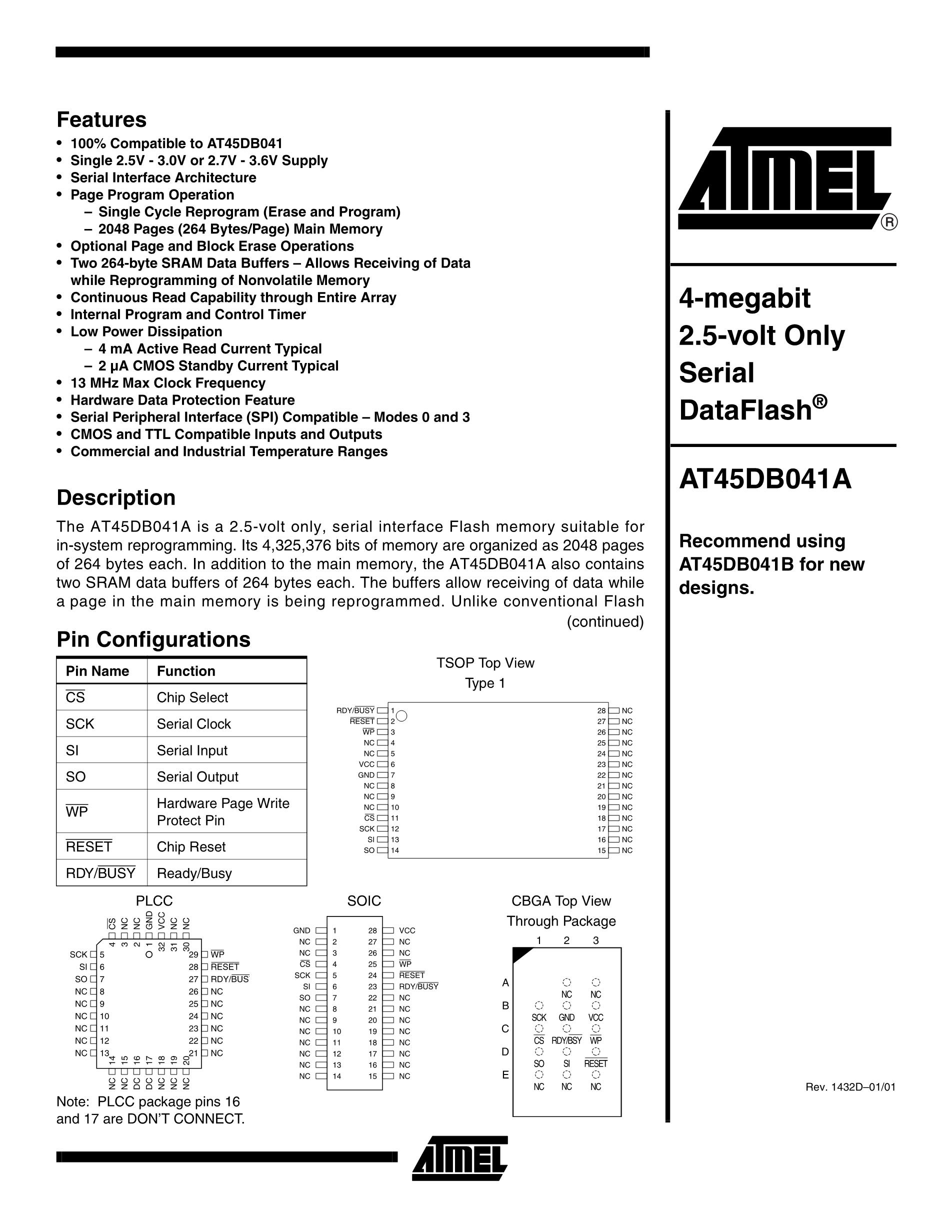 AT45DB041's pdf picture 1