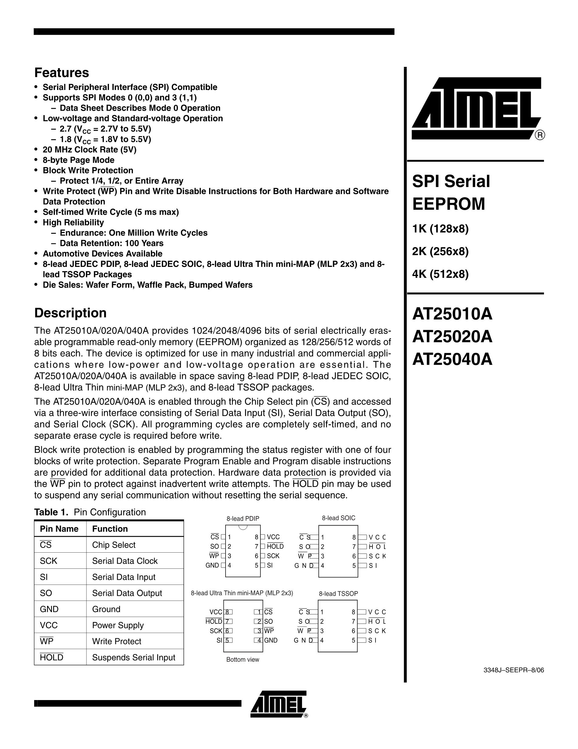 AT25160A-10PI-2.7's pdf picture 1